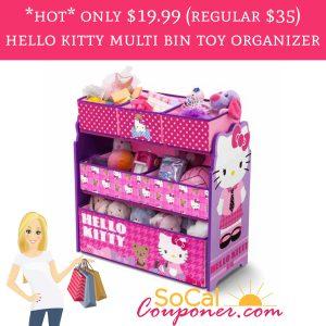 0f0ba5b1e HOT!* Only $19.99 (regular $35) Hello Kitty Multi Bin Toy Organizer ...