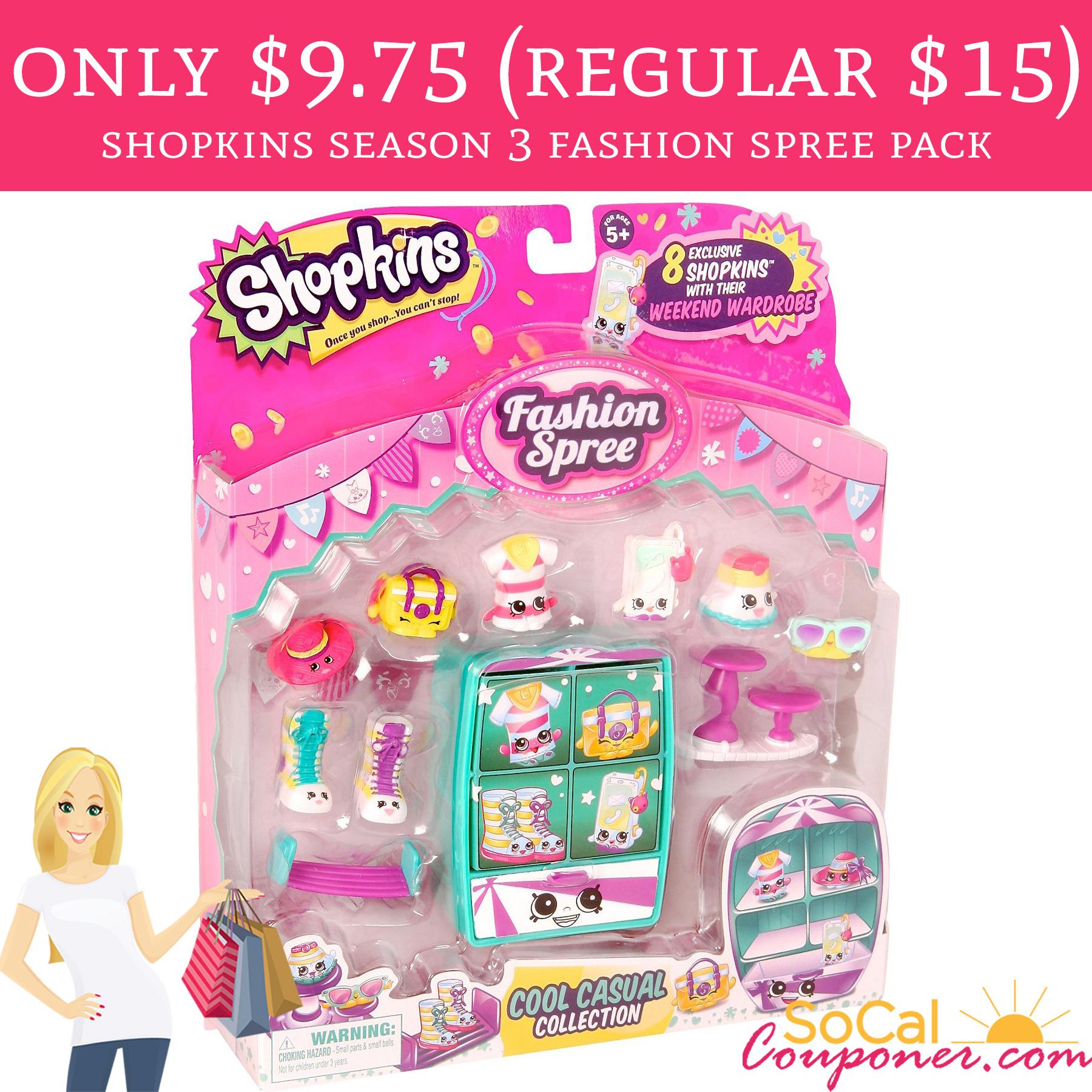 Only 9 75 Regular 15 Shopkins Season 3 Fashion Spree
