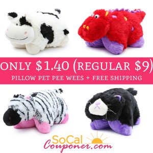 WOW!* Only $1 40 (regular $9) Pillow Pet Pee Wees + Free Shipping