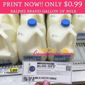 image about Ralphs Printable Coupons titled PRINT By now Operate!! Just $0.99 Ralphs Manufacturer Gallon of Milk or