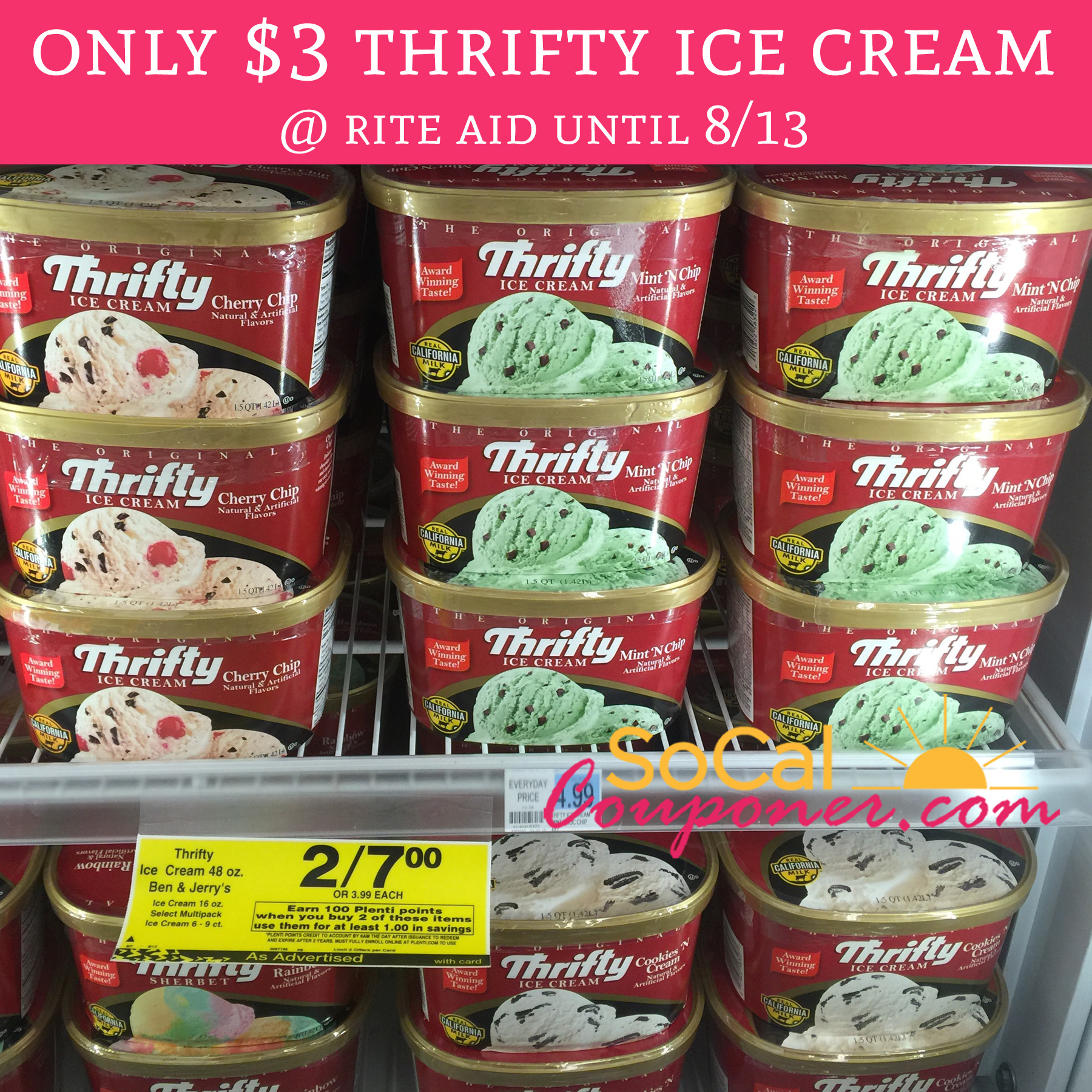 Only 3 Thrifty Ice Cream Rite Aid Until 8 13 Deal