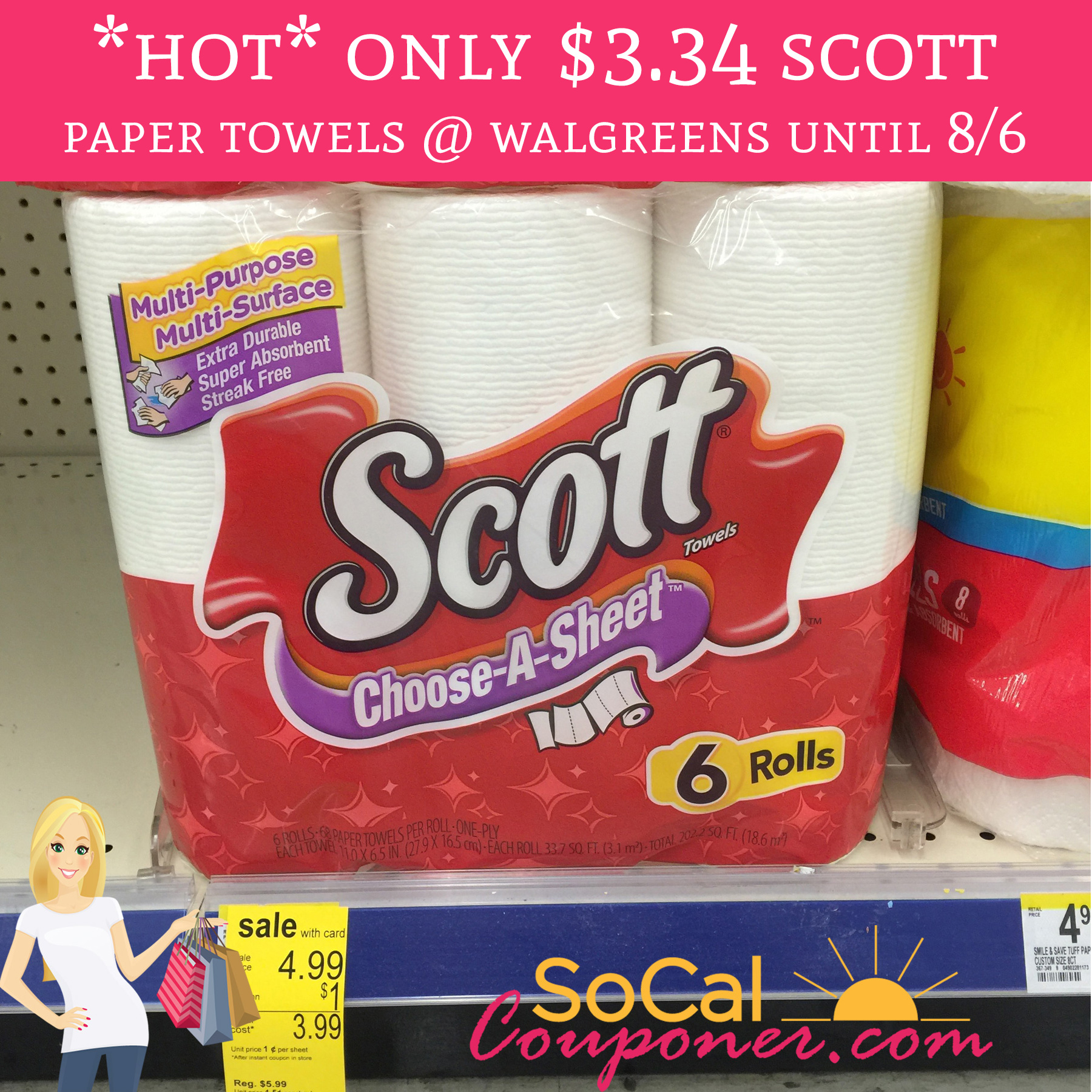 Who Makes Scott Paper Towels: Only $3.34 Scott Paper Towels @ Walgreens Until 8/6
