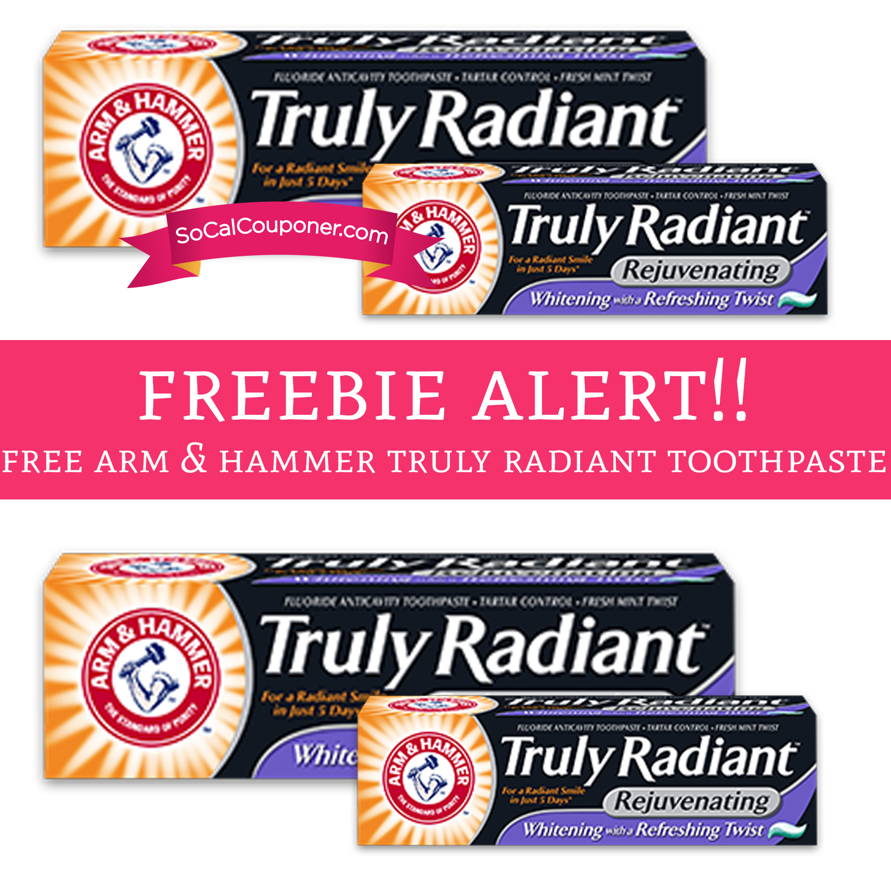 Free arm and hammer toothpaste - Pier one hour
