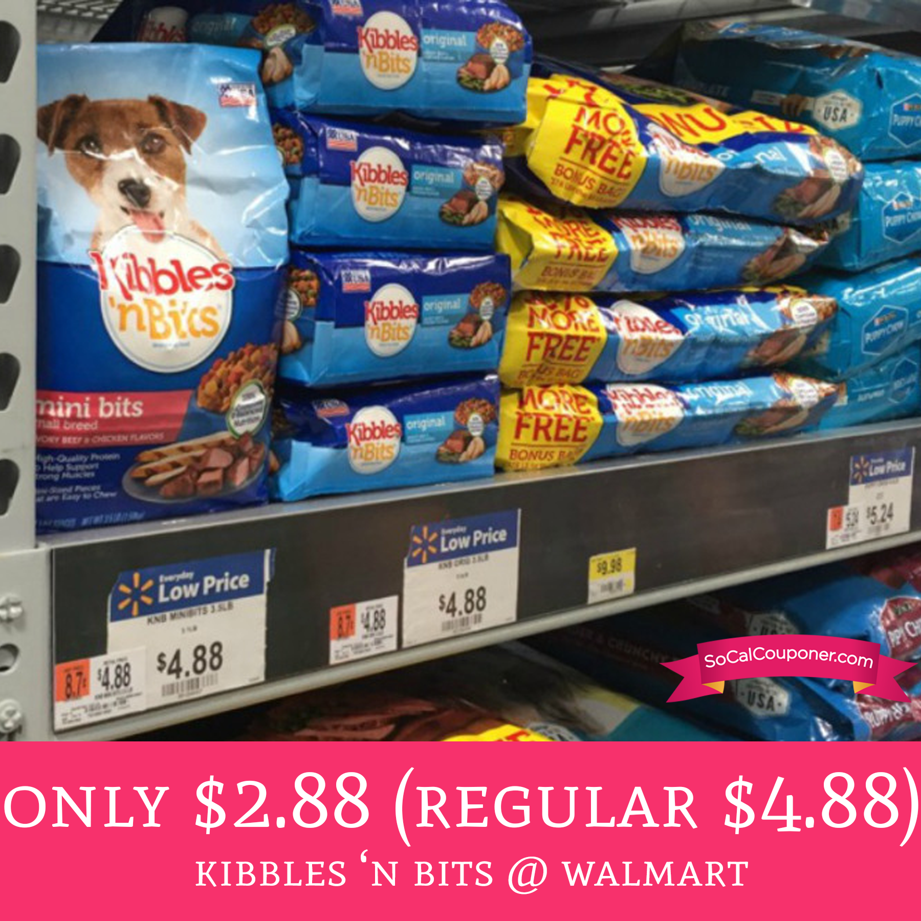 graphic relating to Kibbles and Bits Printable Coupons referred to as Merely $2.88 (Every month $4.88) Kibbles n Bits @ Walmart - Package