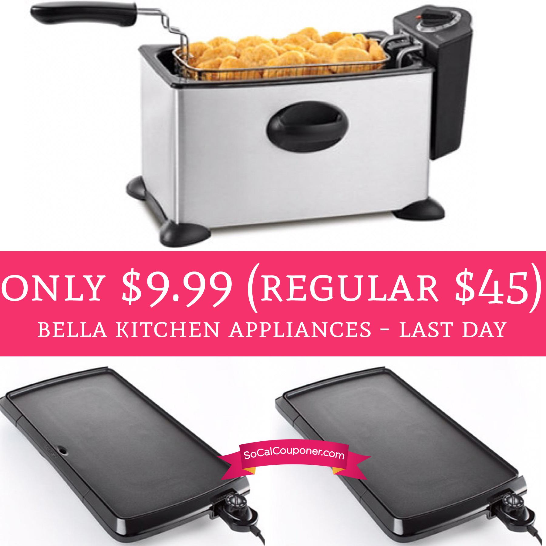 Last Day!! Only $9.99 (Regular $45) Bella Kitchen