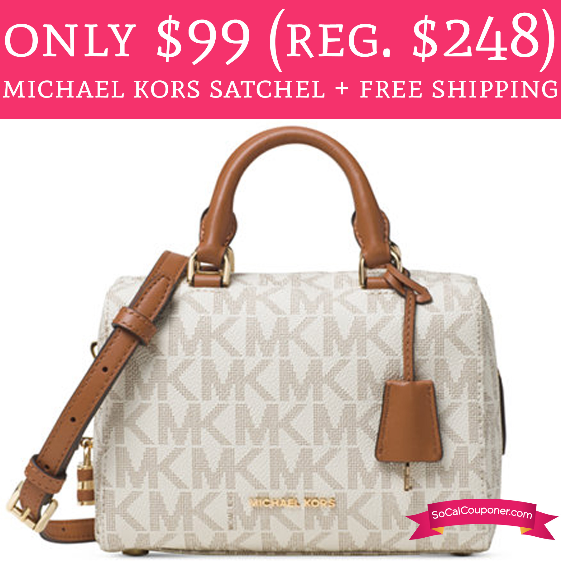 adc3a71a721f ... order only 99 regular 248 michael kors satchel free shipping deal  hunting babe bc38f 2a4cc