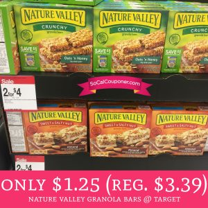 image relating to Nature Valley Printable Coupons named PRINT! Just $1.24 Mother nature Valley Granola Bars @ Focus