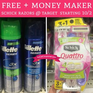 PRINT! FREE + Money Maker Schick Razors @ Target Starting 10