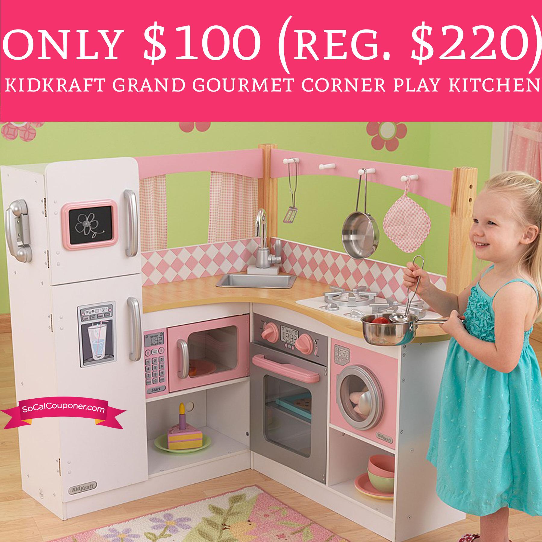 Kidkraft Grand Gourmet Corner Kitchen Play Set Free Shipping