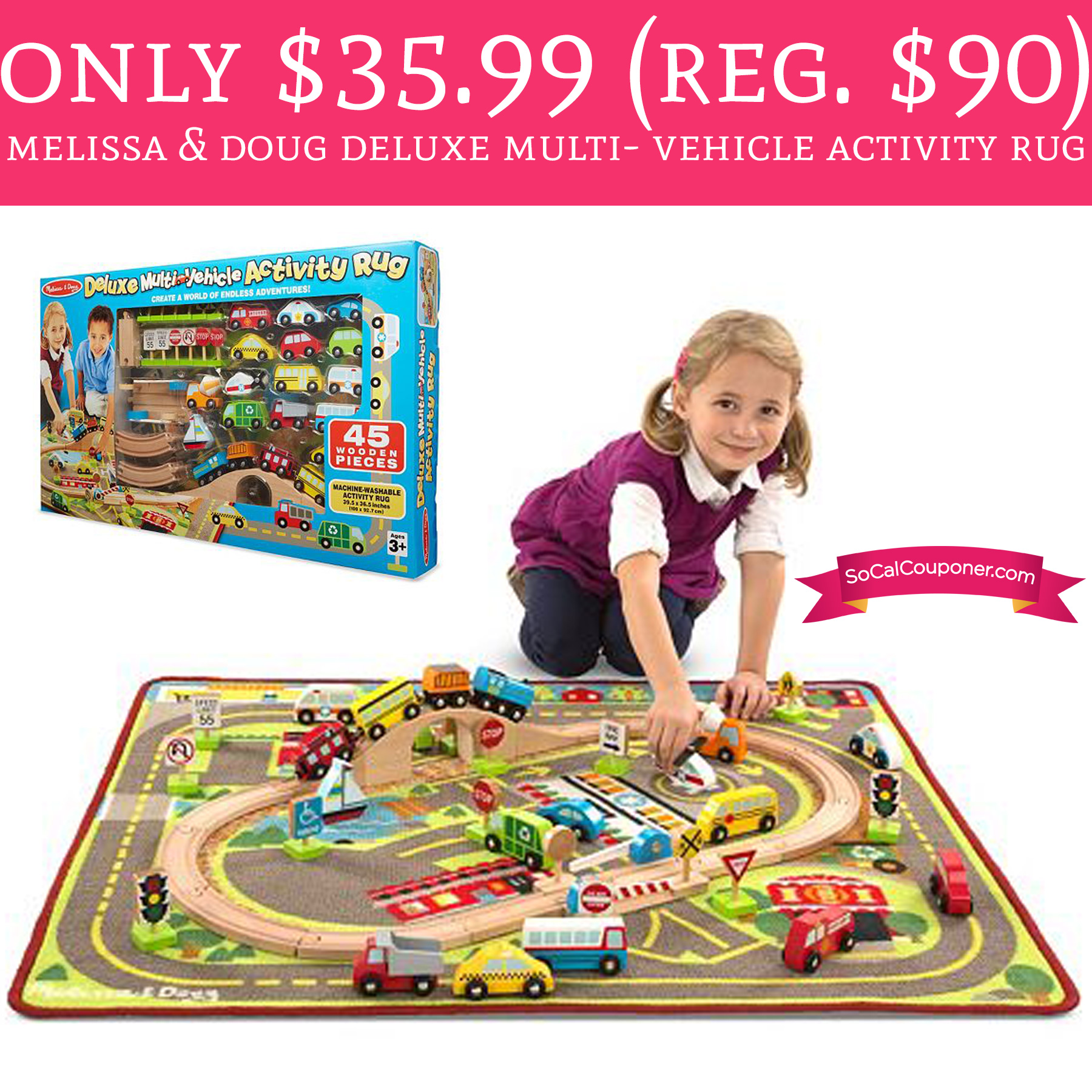 Only 35 99 Regular 90 Melissa Amp Doug Multi Vehicle