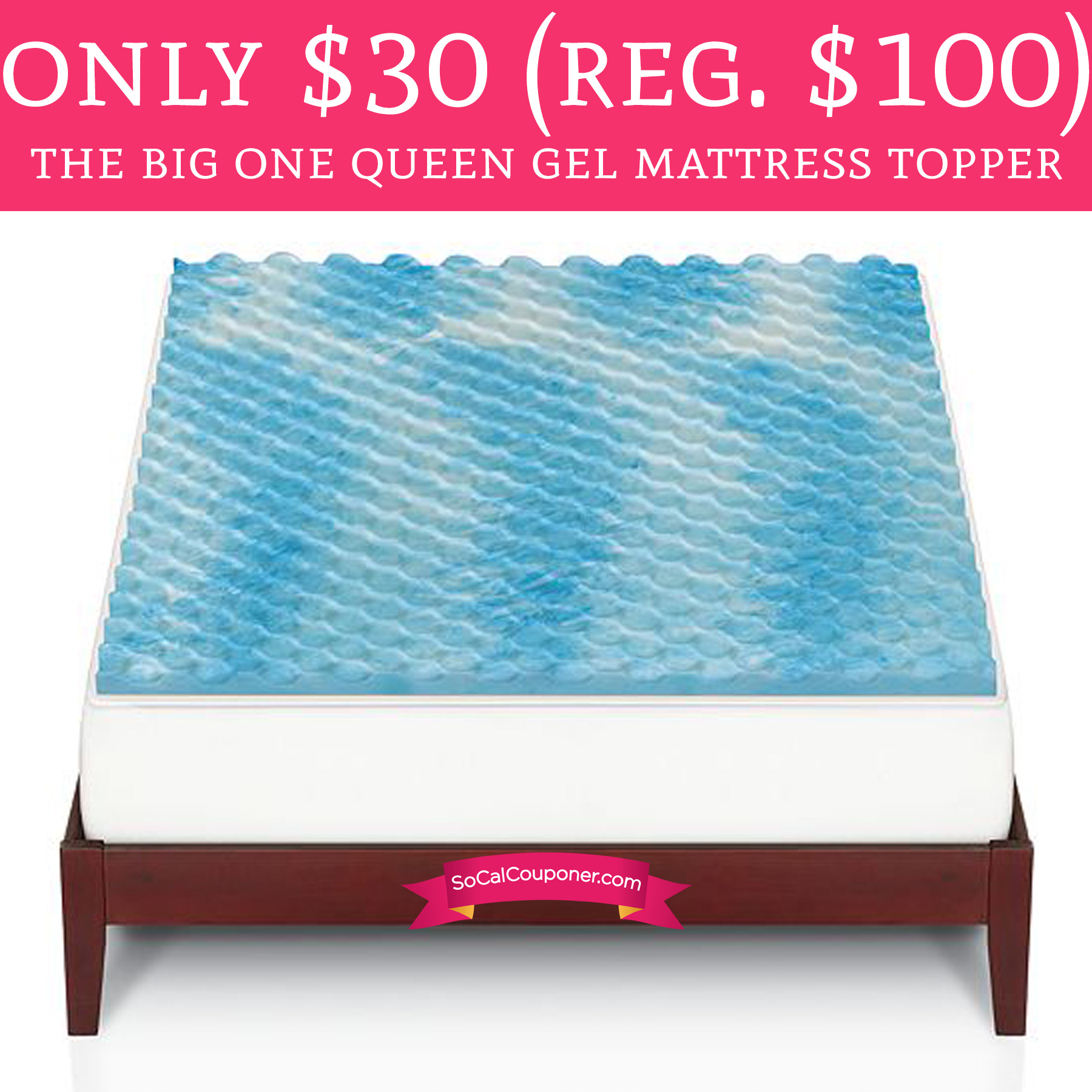 Only 30 Regular 100 The Big One Queen Gel Mattress Topper Deal Hunting Babe