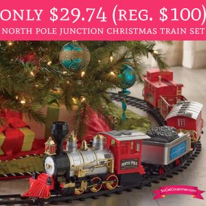 kohls black friday deals are live now and you can score the north pole junction christmas train set for just for just 2979 the train set is marked down - North Pole Junction Christmas Train