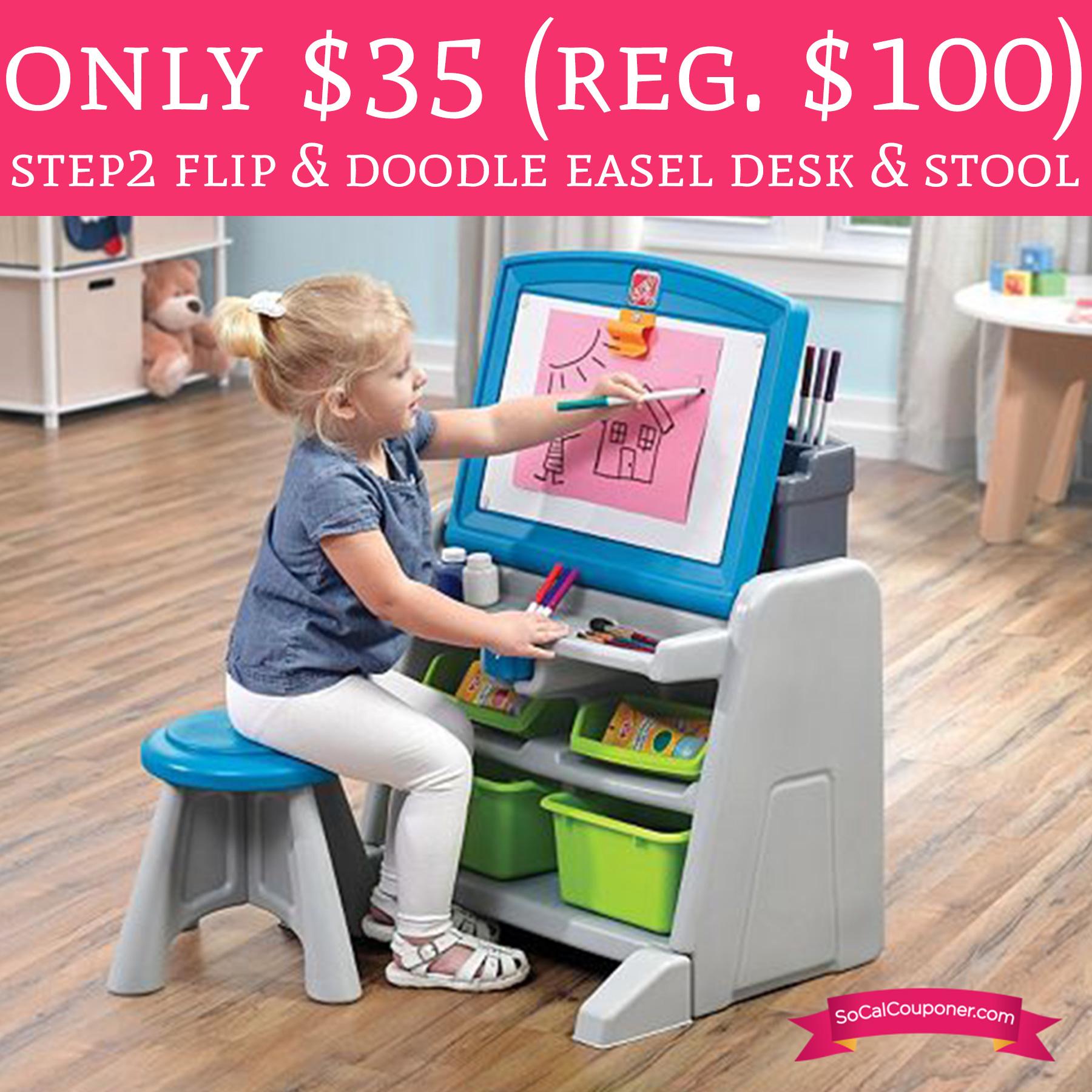 Only 35 Regular 100 Step2 Flip Amp Doodle Easel Desk