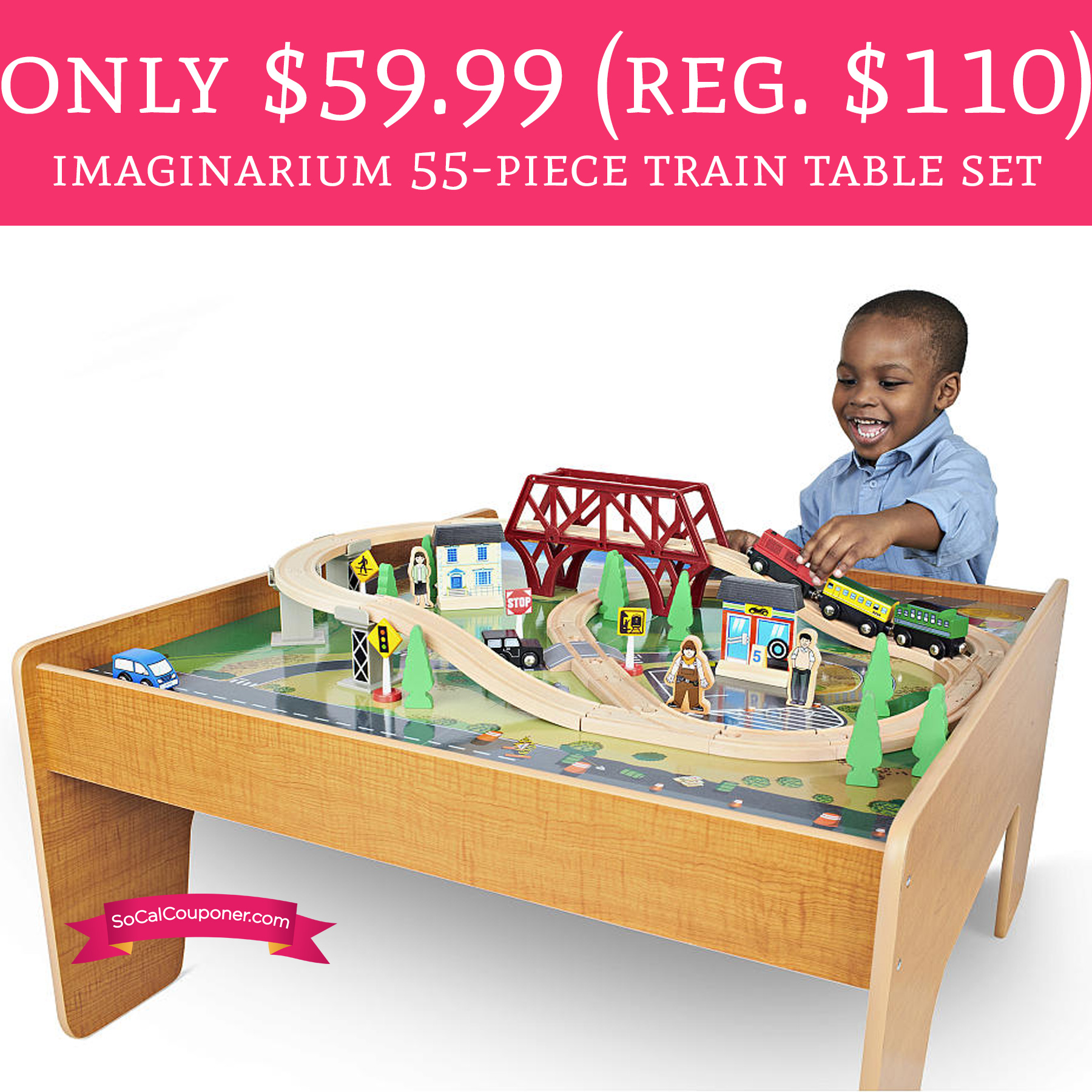 Only regular 110 imaginarium 55 piece train for 10 in 1 game table toys r us