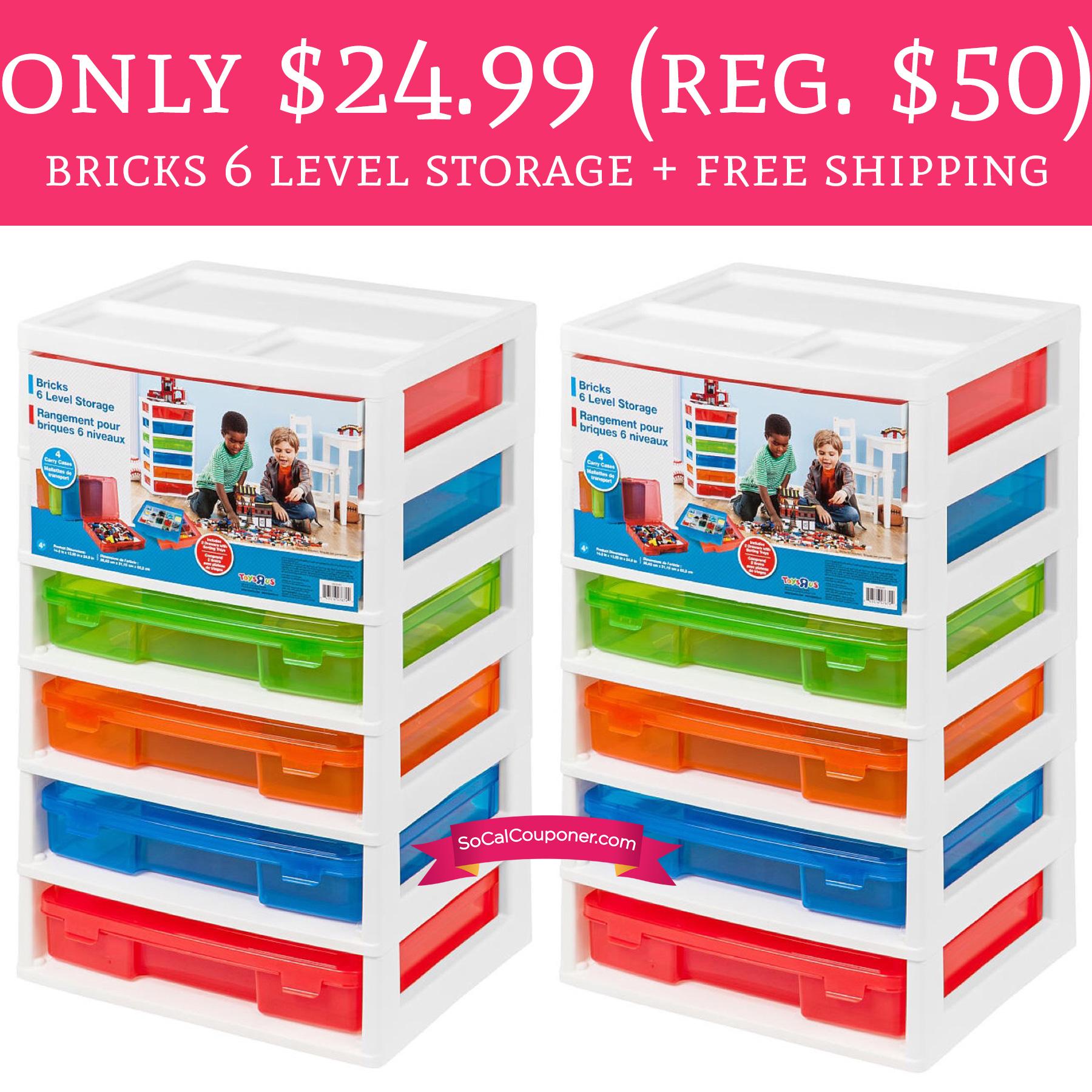 Only 24 99 Regular 50 Bricks 6 Level Storage Free