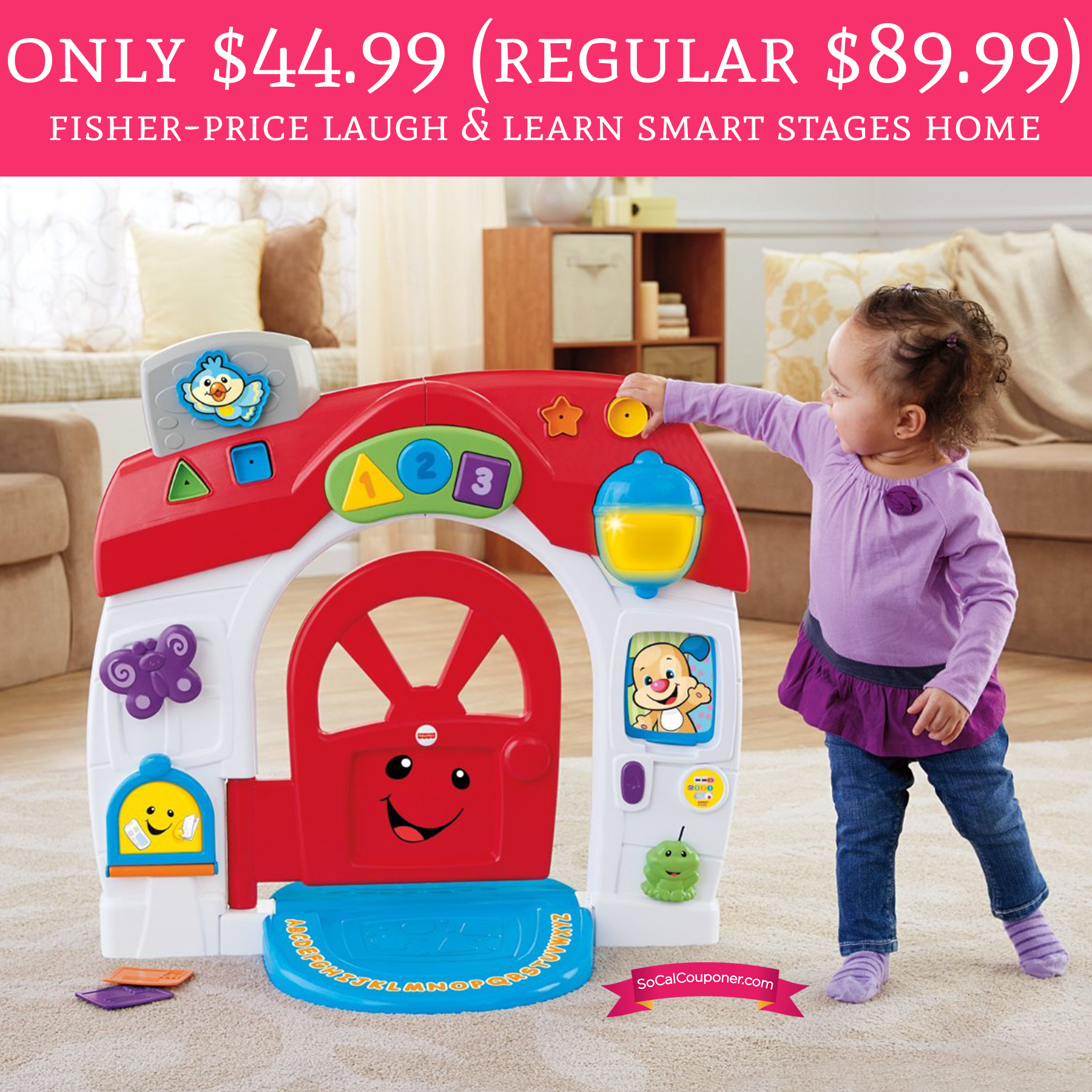 Only $44.99 (Regular $89.99) Fisher-Price Laugh & Learn Smart Stages Home Play Set - Deal Hunting Babe