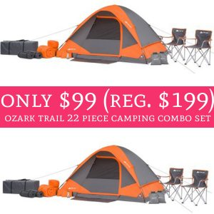 Head on over to Walmart score this awesome deal on Ozark Trail 22 piece c&ing combo set + free shipping! This set comes with a 4-person tent 1 gear loft ...  sc 1 st  Deal Hunting Babe & Only $99 (Regular $199) Ozark Trail 22 Piece Camping Combo Set + ...
