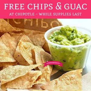 chipotle game free chips and guac