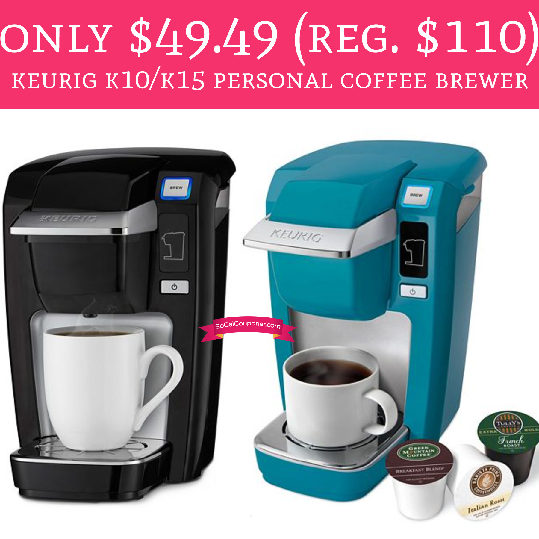 Keurig Coffee Maker Personal : Only USD 49.49 (Regular USD 110) Keurig K10/K15 Personal Coffee Brewer - Deal Hunting Babe