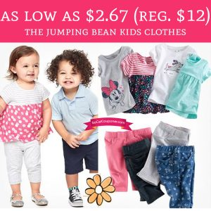 4bea8e005 RUN! As low as $2.67 (Regular $12) Jumping Bean Kids Clothes - Deal ...