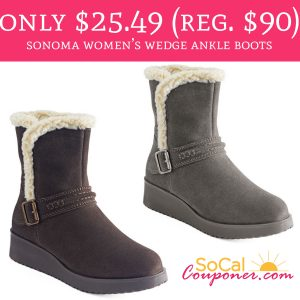 36c8d3b3b4e Only  25.49 (Regular  90) Sonoma Women s Wedge Ankle Boots - Deal ...