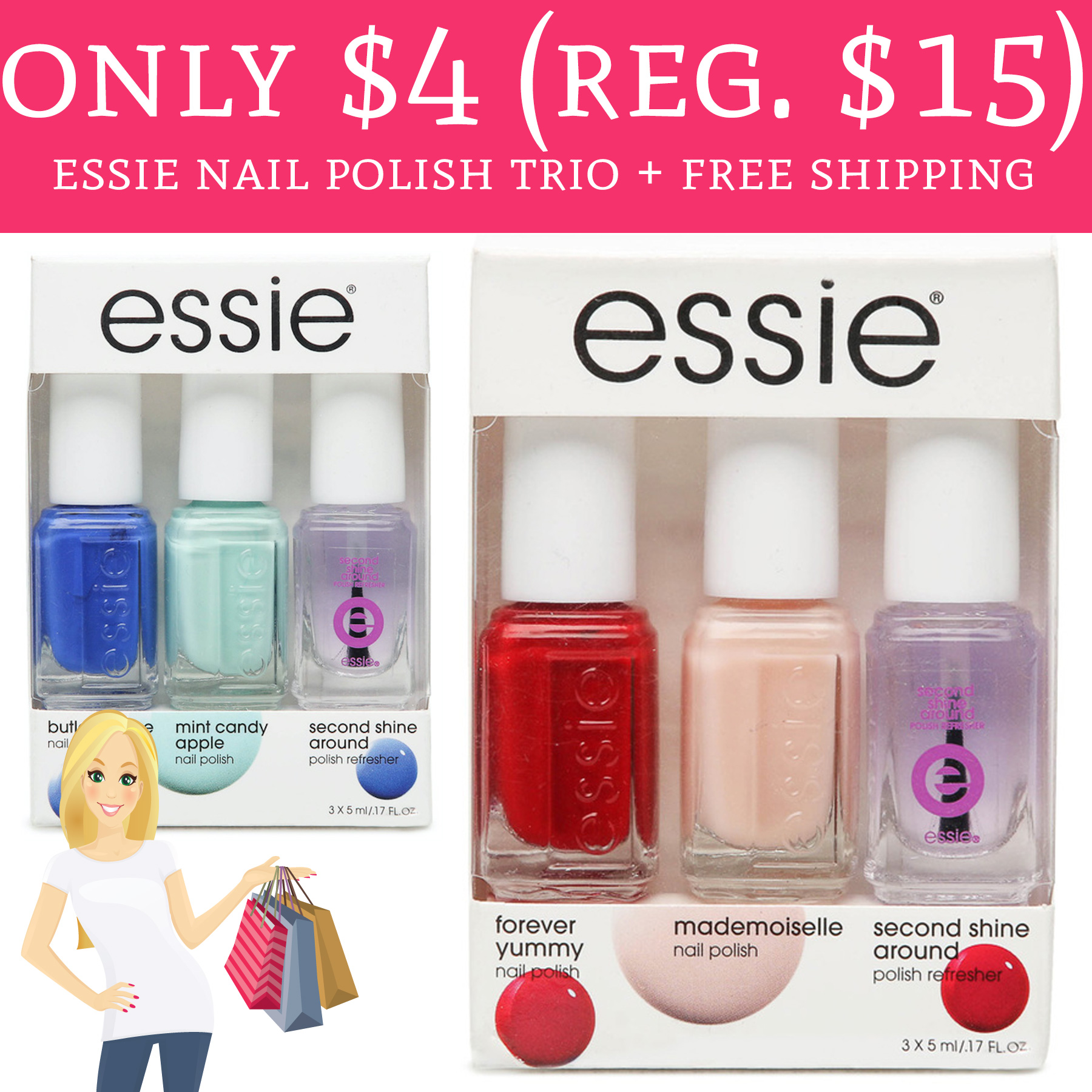 Only $4 (Regular $15) Essie Nail Polish Trio + Free Shipping - Deal ...