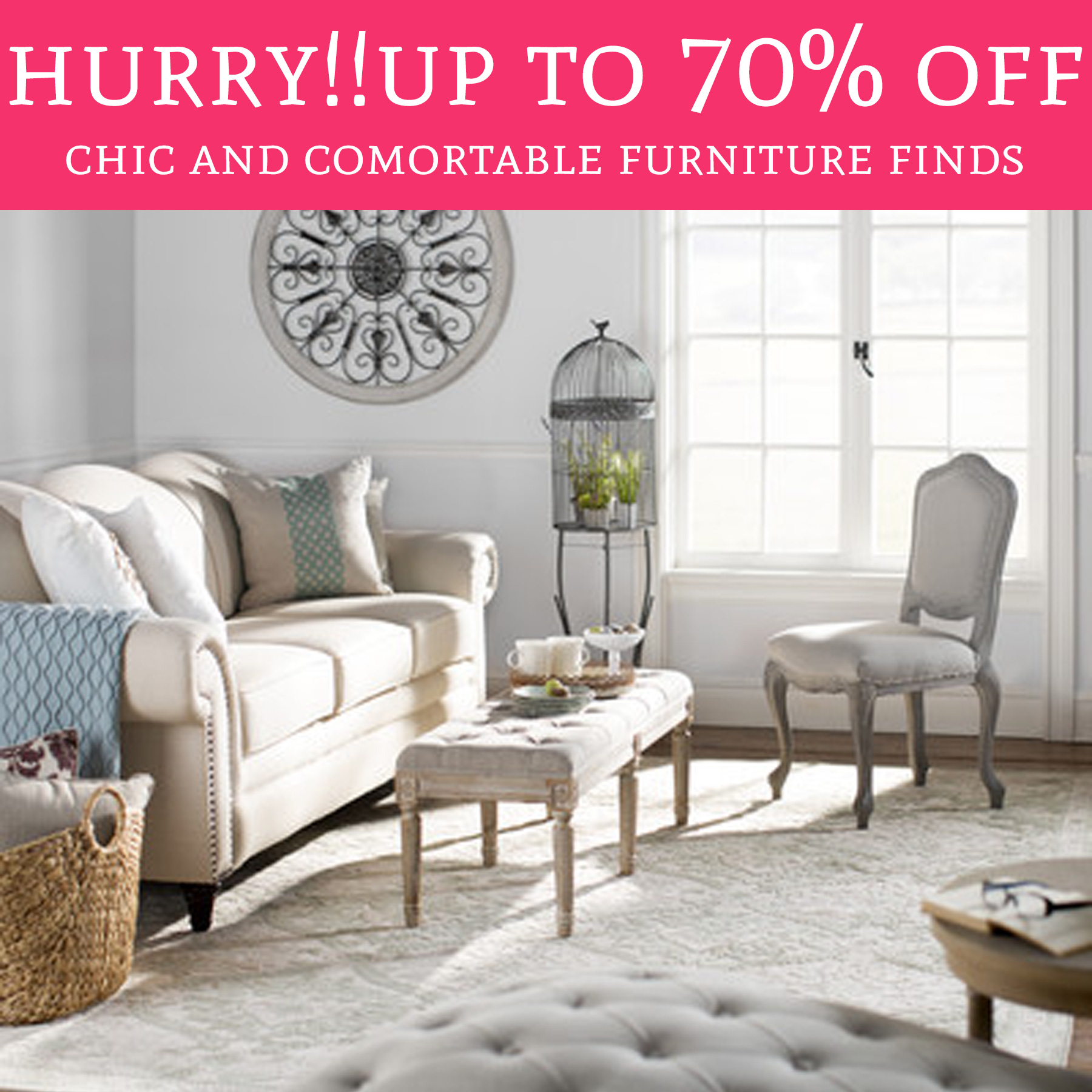 Up to 70 off chic and comfortable furniture finds deal for Furniture 70 off