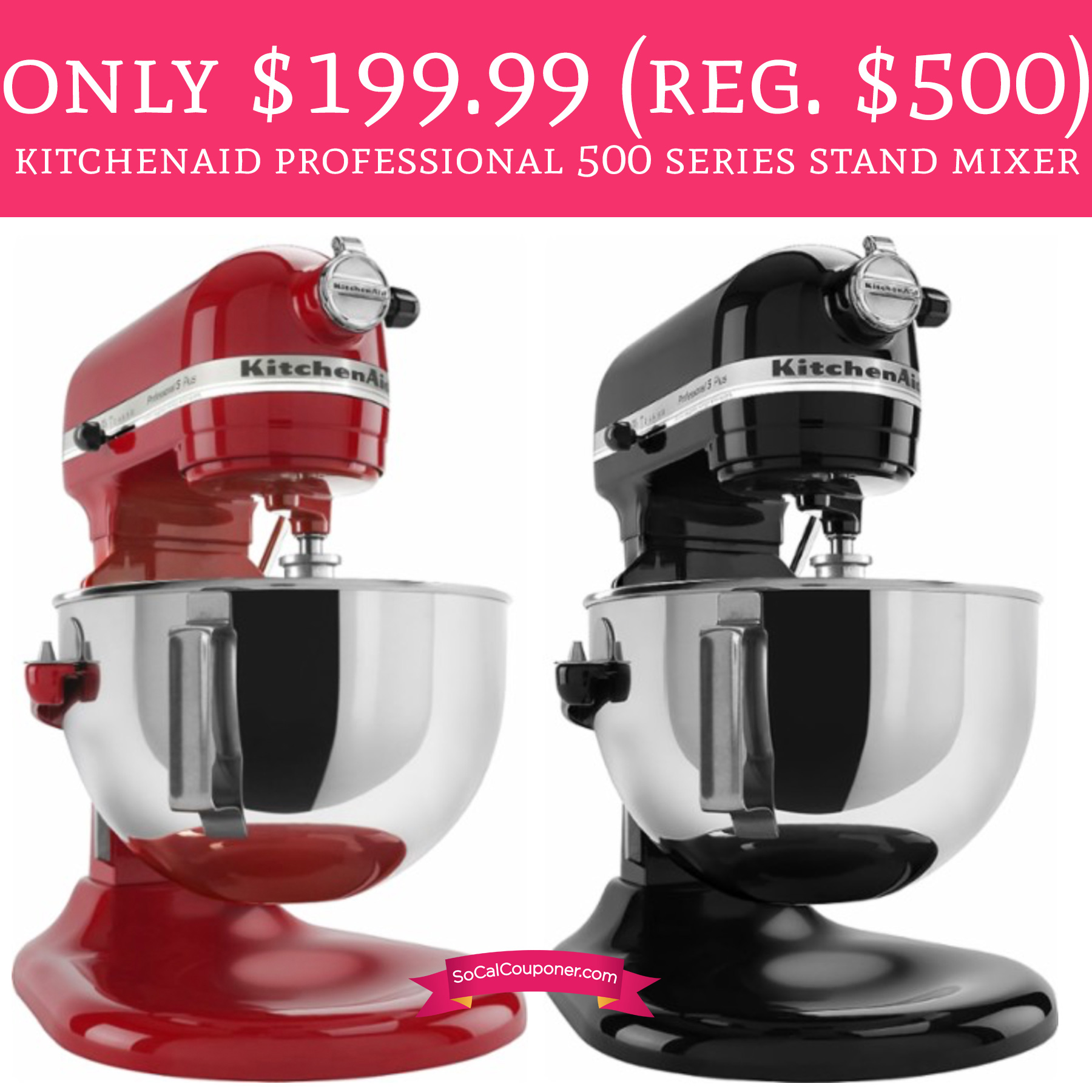Only $199.99 (Regular $500) KitchenAid Professional 500 Series Stand ...