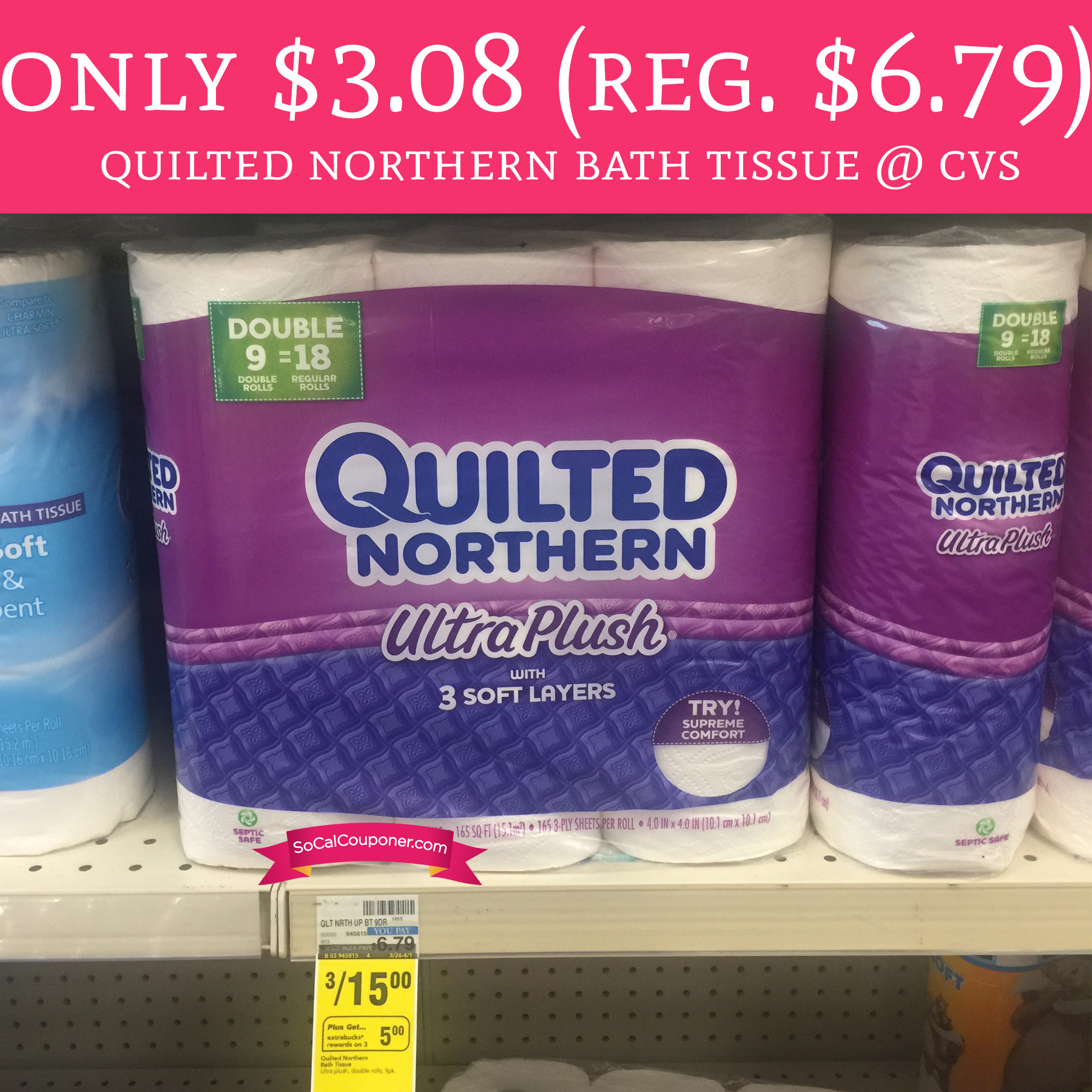 Only Regular Quilted Northern Bath Tissue Cvs Deal Hunting Babe