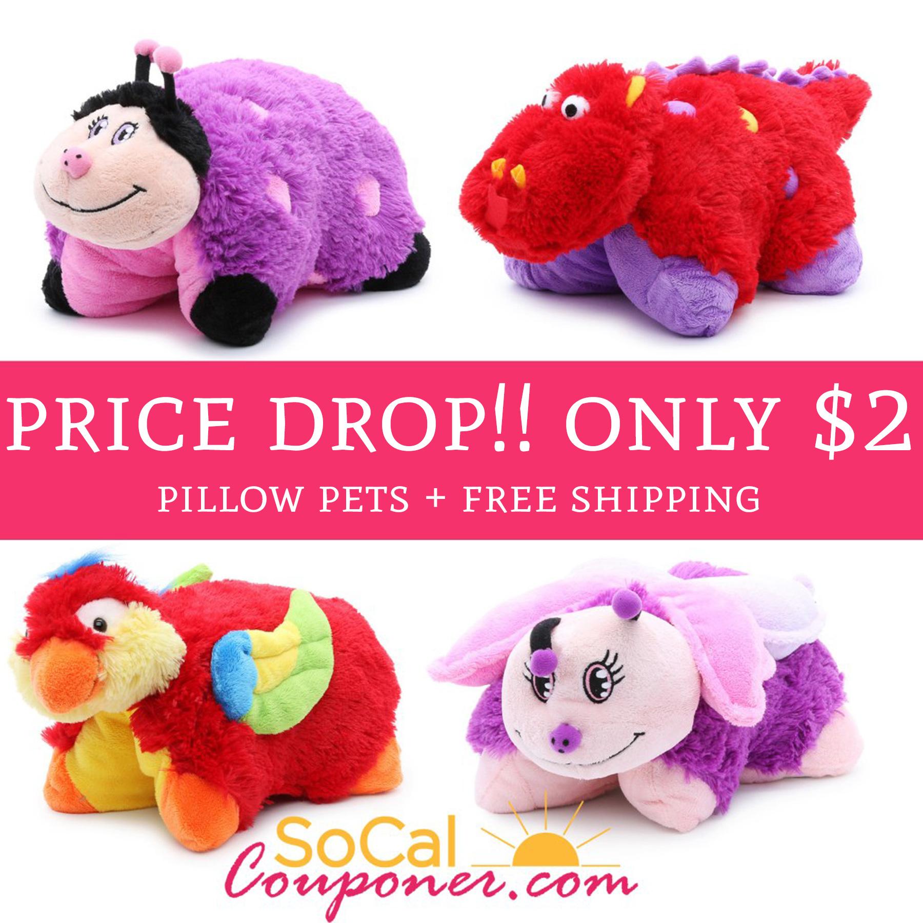 Price Drop Only 2 Regular 9 Pillow Pets Free
