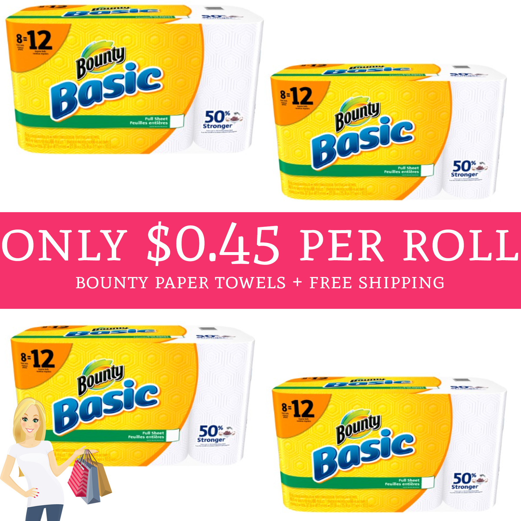 Bounty Paper Towels Cvs: HURRY! Only $0.45 Per Bounty Paper Towels Roll + Free