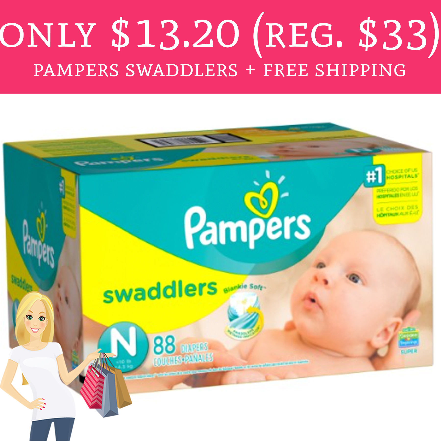 Only 13 20 Regular 33 Pampers Swaddlers Free
