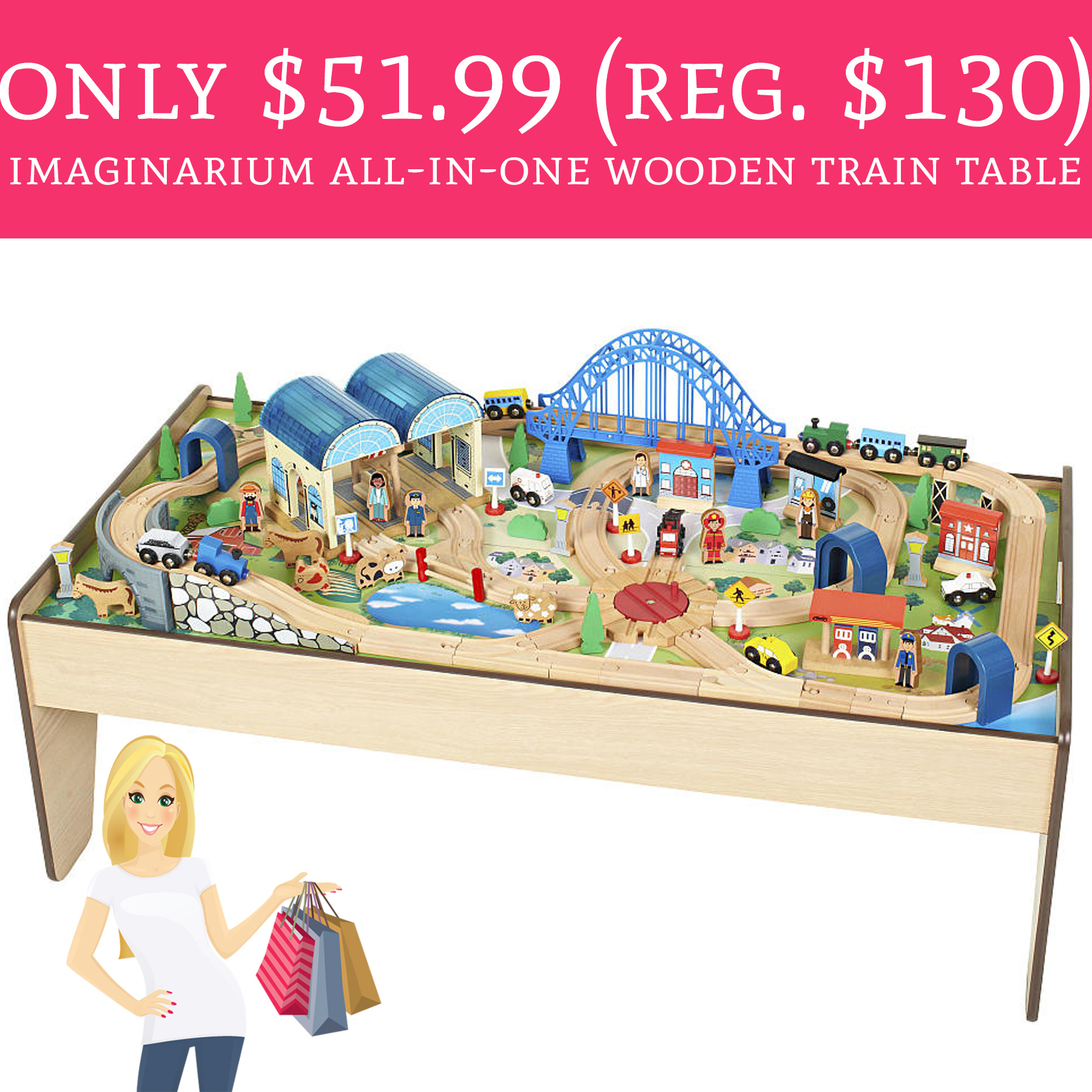 Only 51 99 Regular 130 Imaginarium All In One Wooden