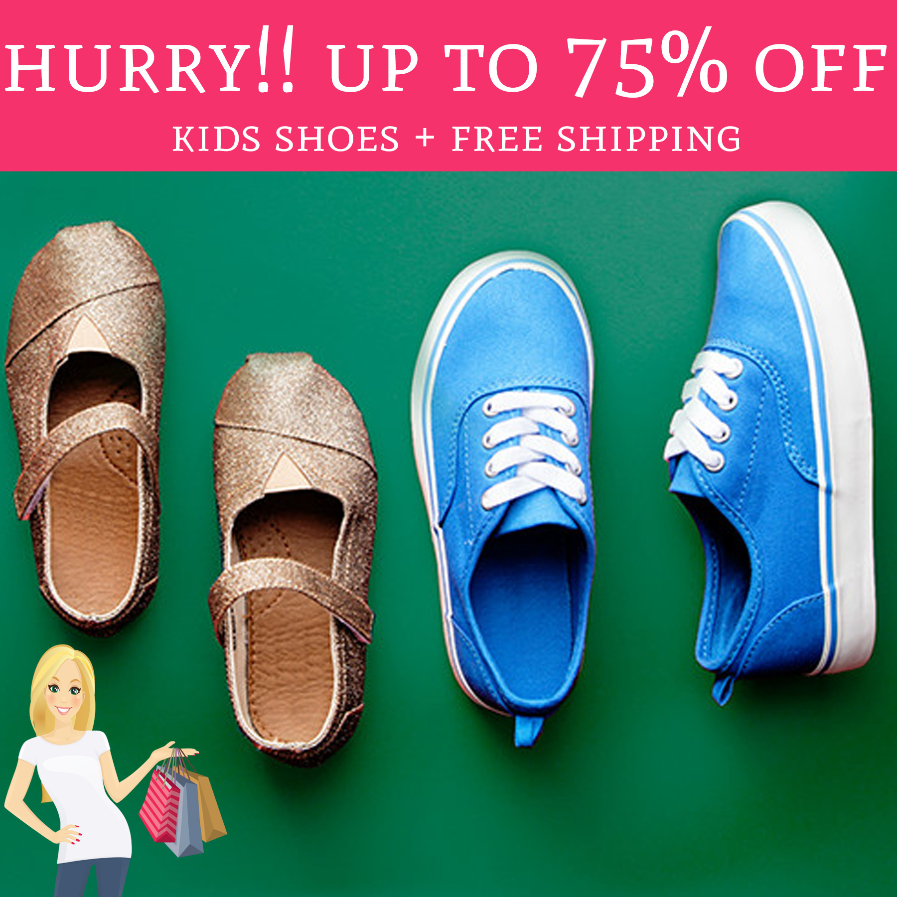 WOW! Up To 75% Off Kids Shoes (Tons Of Name Brand) + Free