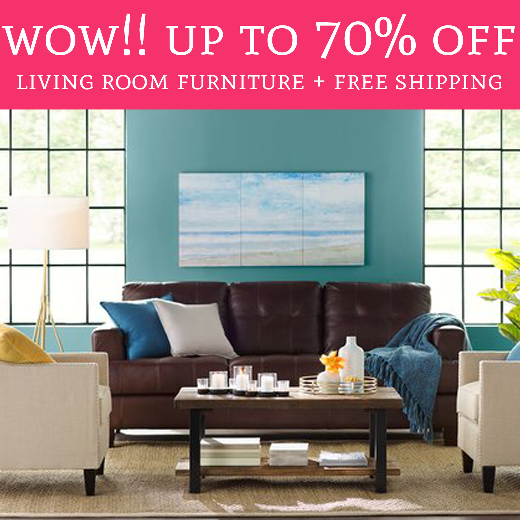 Free Shipping Furniture: Up To 70% Off Living Room Furniture + Free Shipping