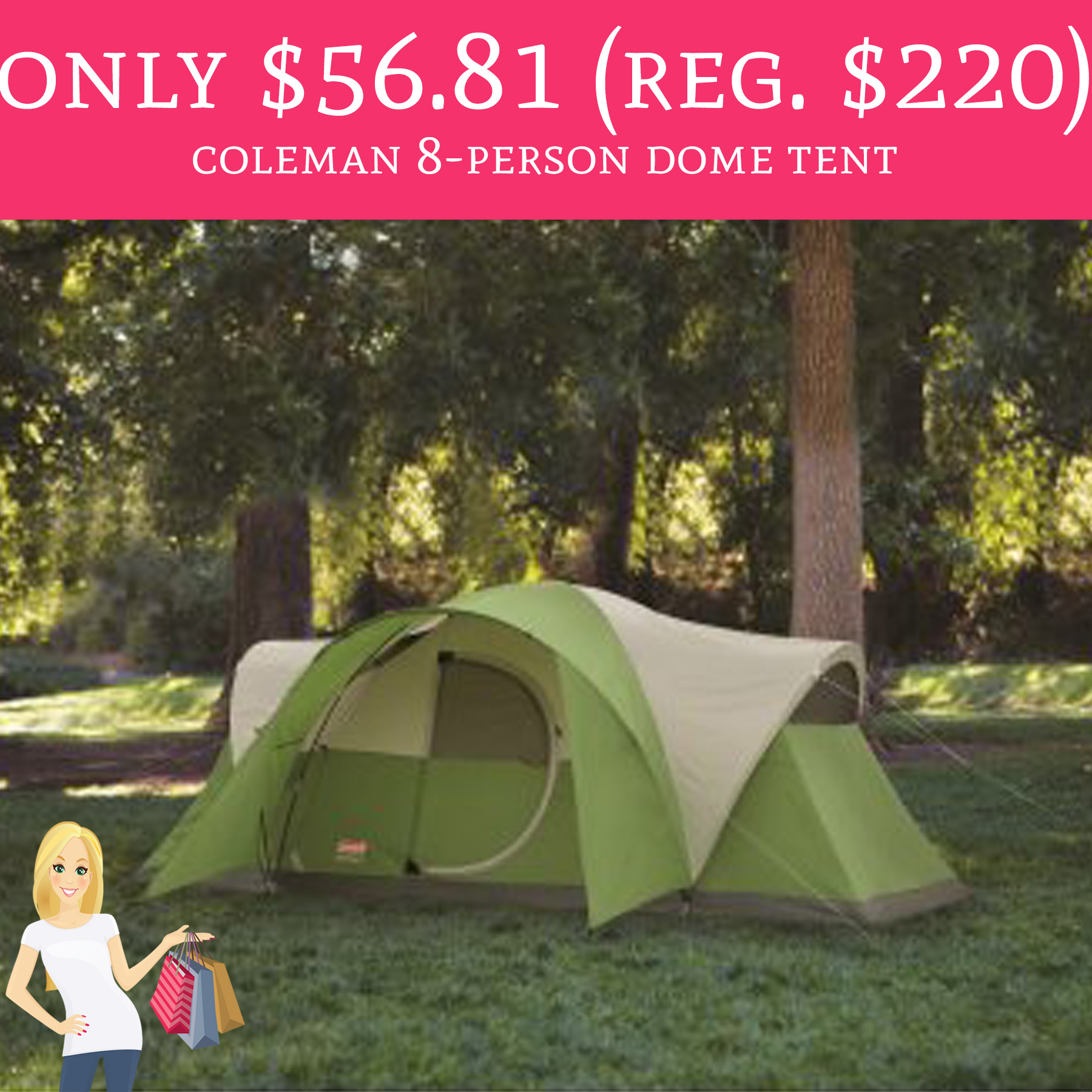 This deal is expired!  sc 1 st  Deal Hunting Babe & RUN! Only $56.81 (Regular $220) Coleman Montana 8-Person Dome Tent ...