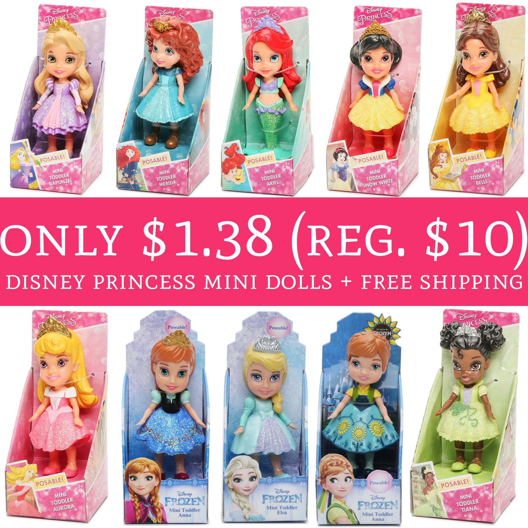 Wow Only 1 38 Regular 10 Disney Princess Mini Dolls