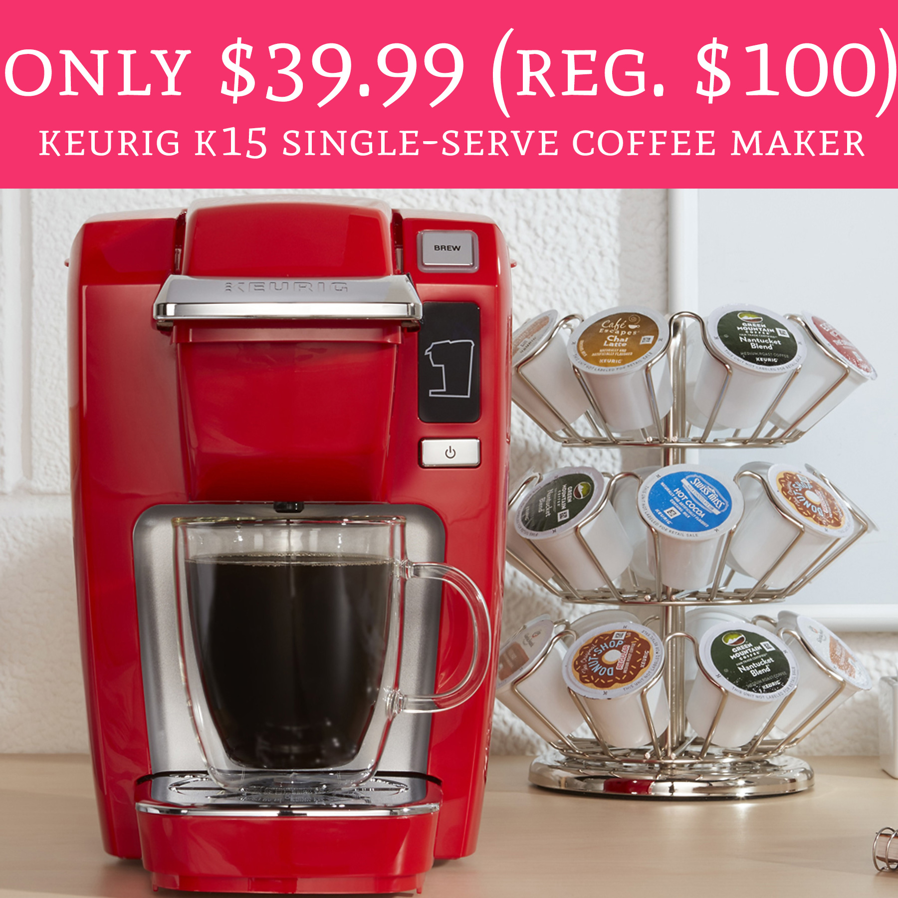 Single Serve Coffee Maker Deals : Only USD 39.99 (Regular USD 100) Keurig K15 Single-Serve Coffee Maker - Deal Hunting Babe