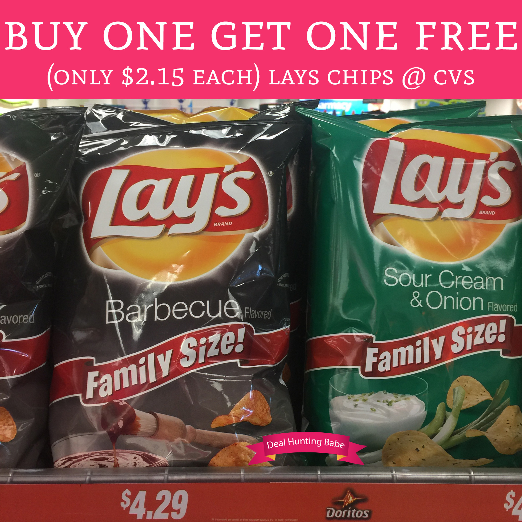 Buy: Buy One Get One Free Lay's Chips @ CVS (Only $2.15 Each