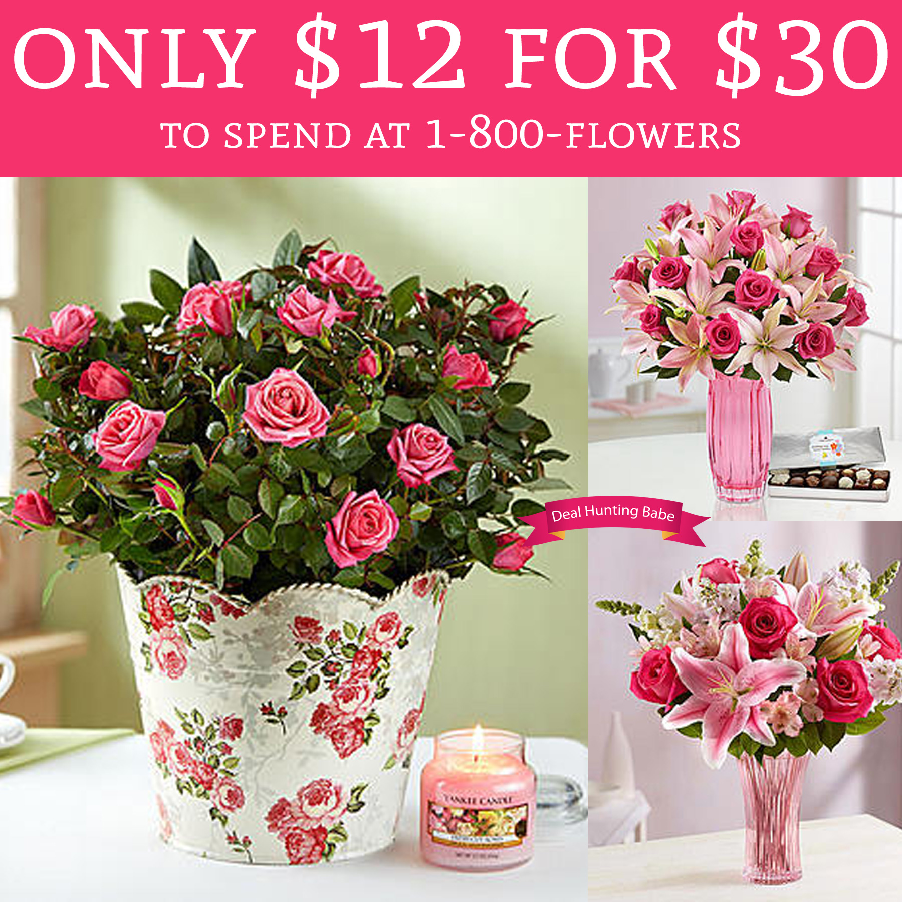HOT ly $12 for $30 To Spend At 1 800 Flowers Deal Hunting Babe