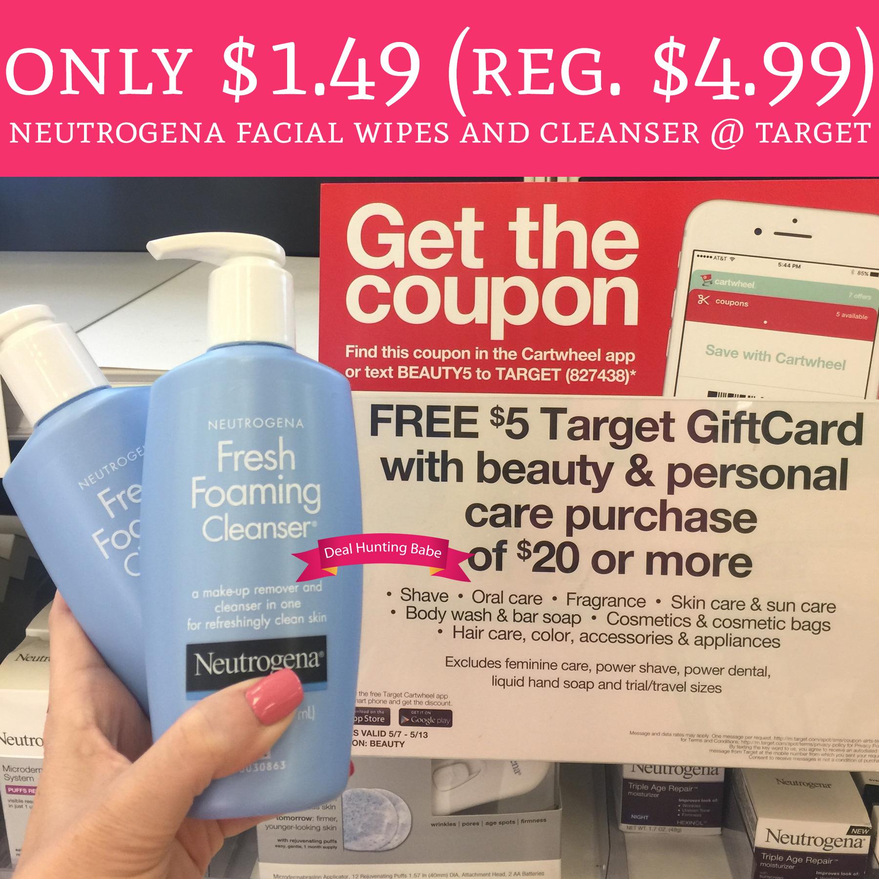 149 Regular 499 Neutrogena Make Up Remover Cleansing