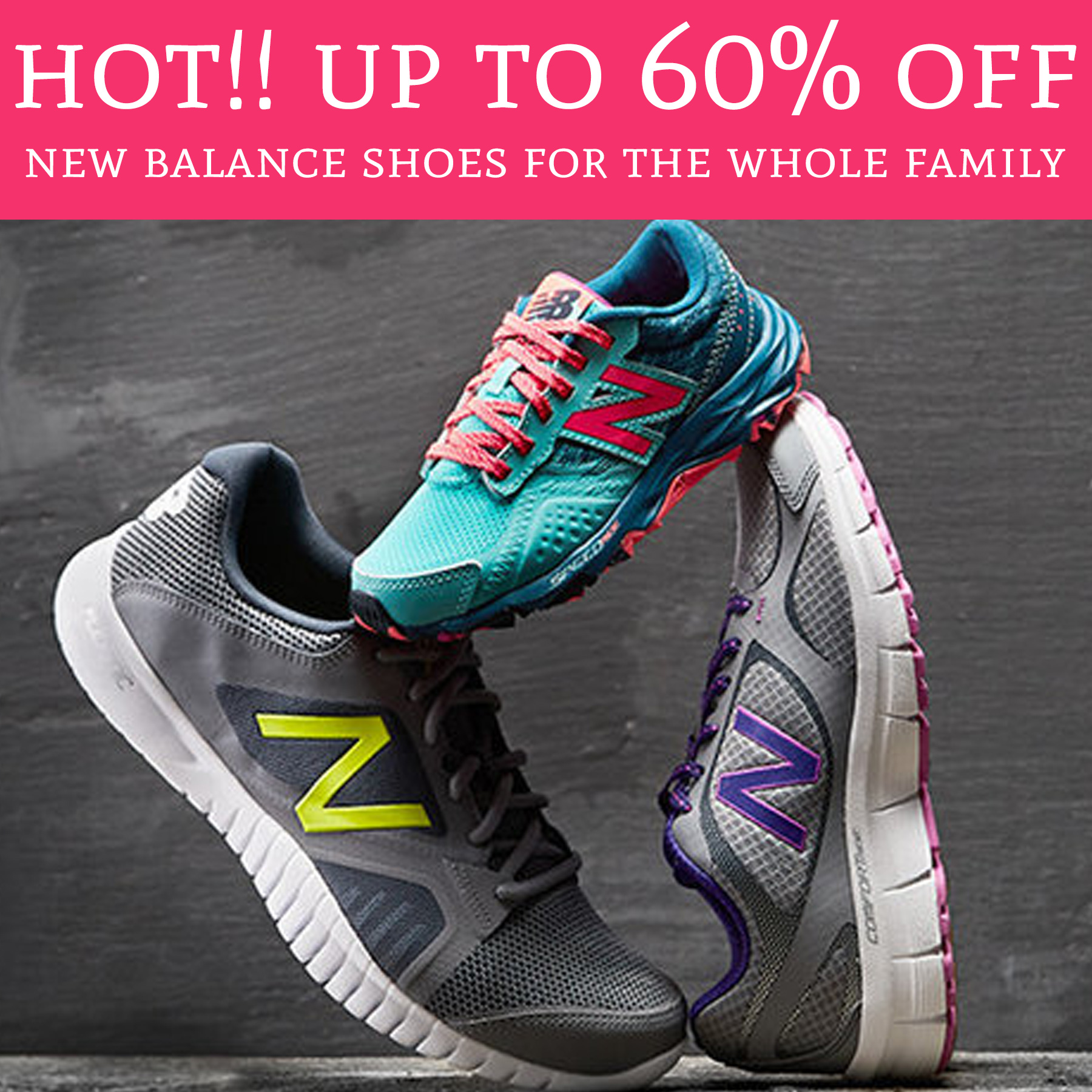 36948214cce5 WOW! Up to 60% Off New Balance Shoes For The Whole Family - Deal ...