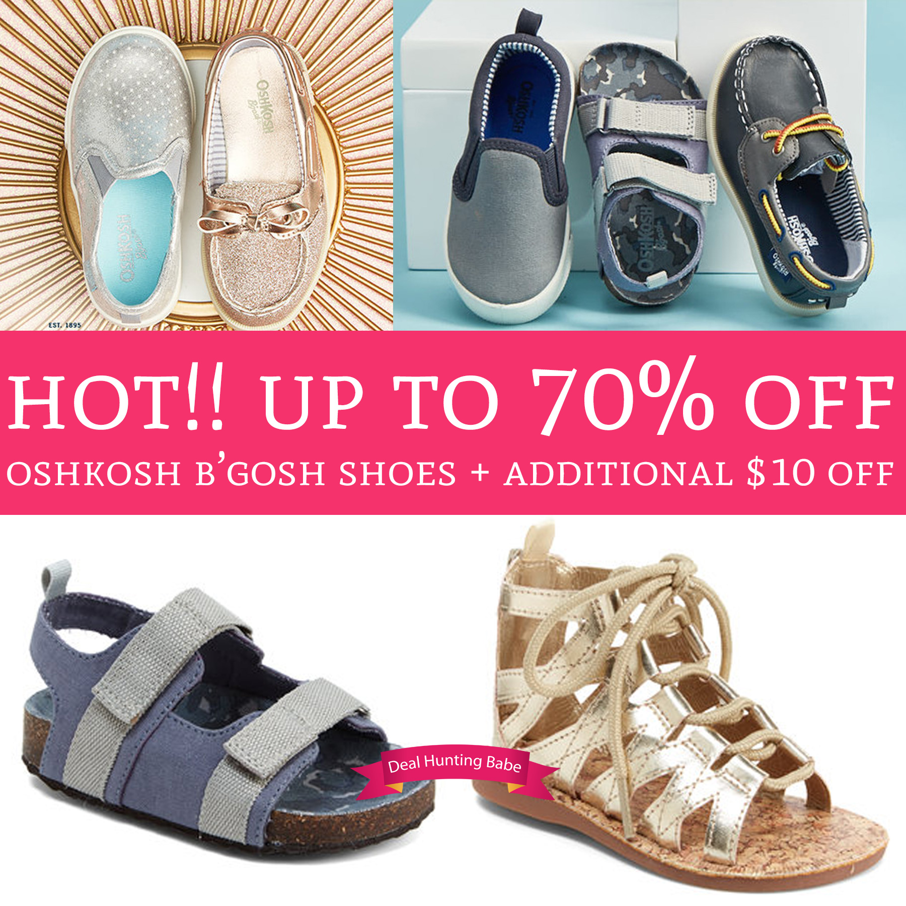 49b7fecabec4 WOW! Up to 70% Off OshKosh B Gosh Shoes + Additional  10 Off - Deal ...