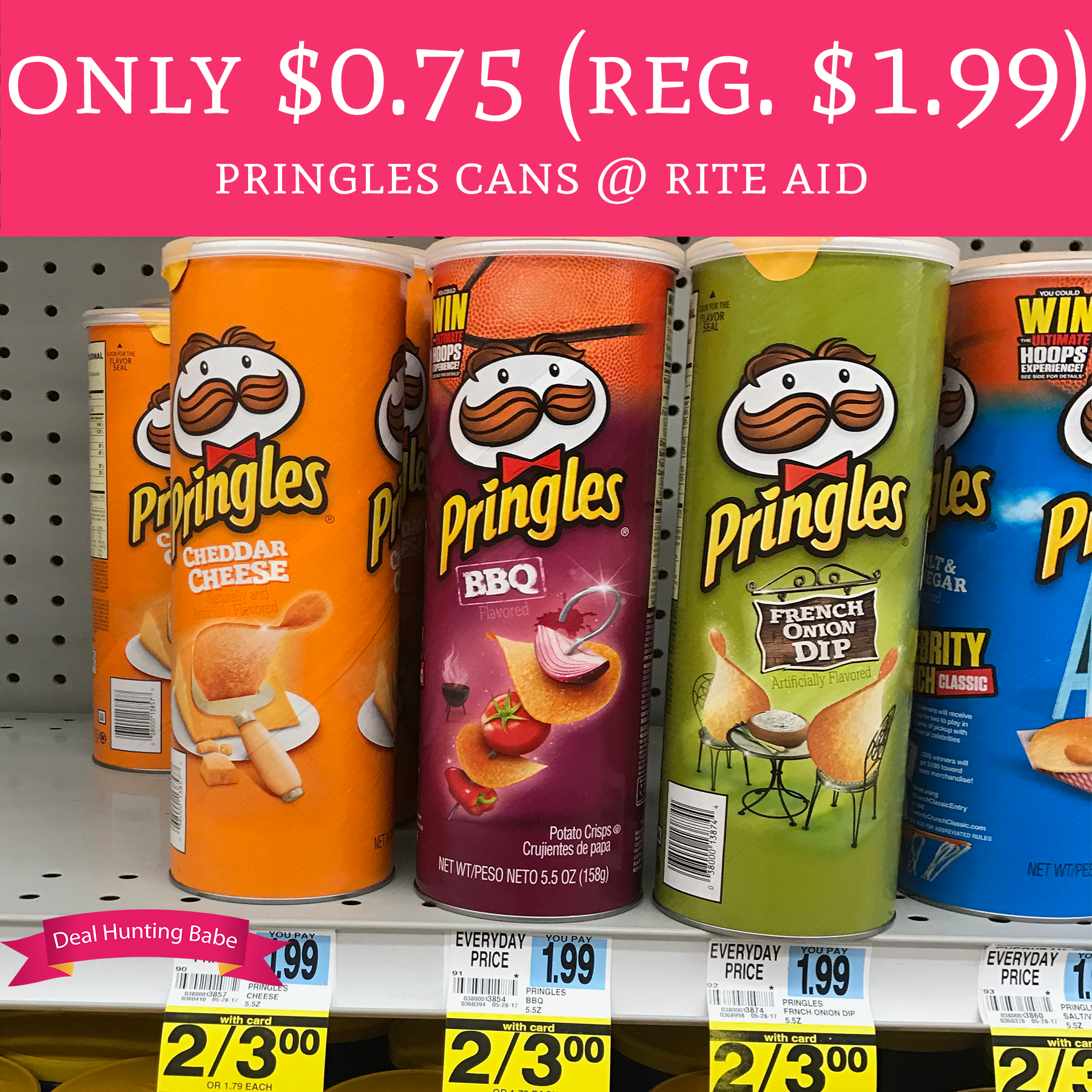 Rite Aid Stock Quote: Only $0.75 (Regular $1.99) Pringles Cans @ Rite Aid
