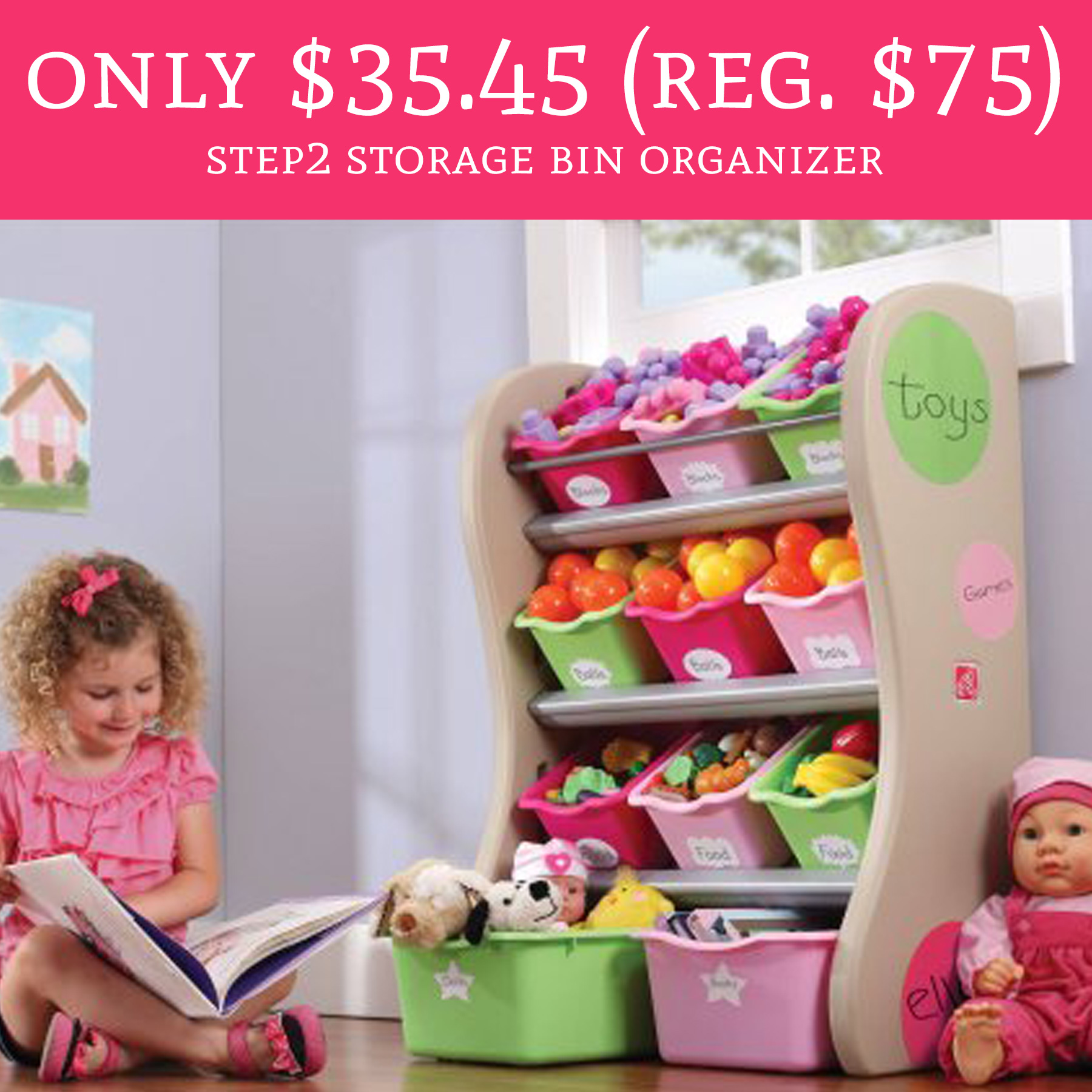 Only 35 45 Regular 75 Step2 Storage Bin Organizer Deal Hunting