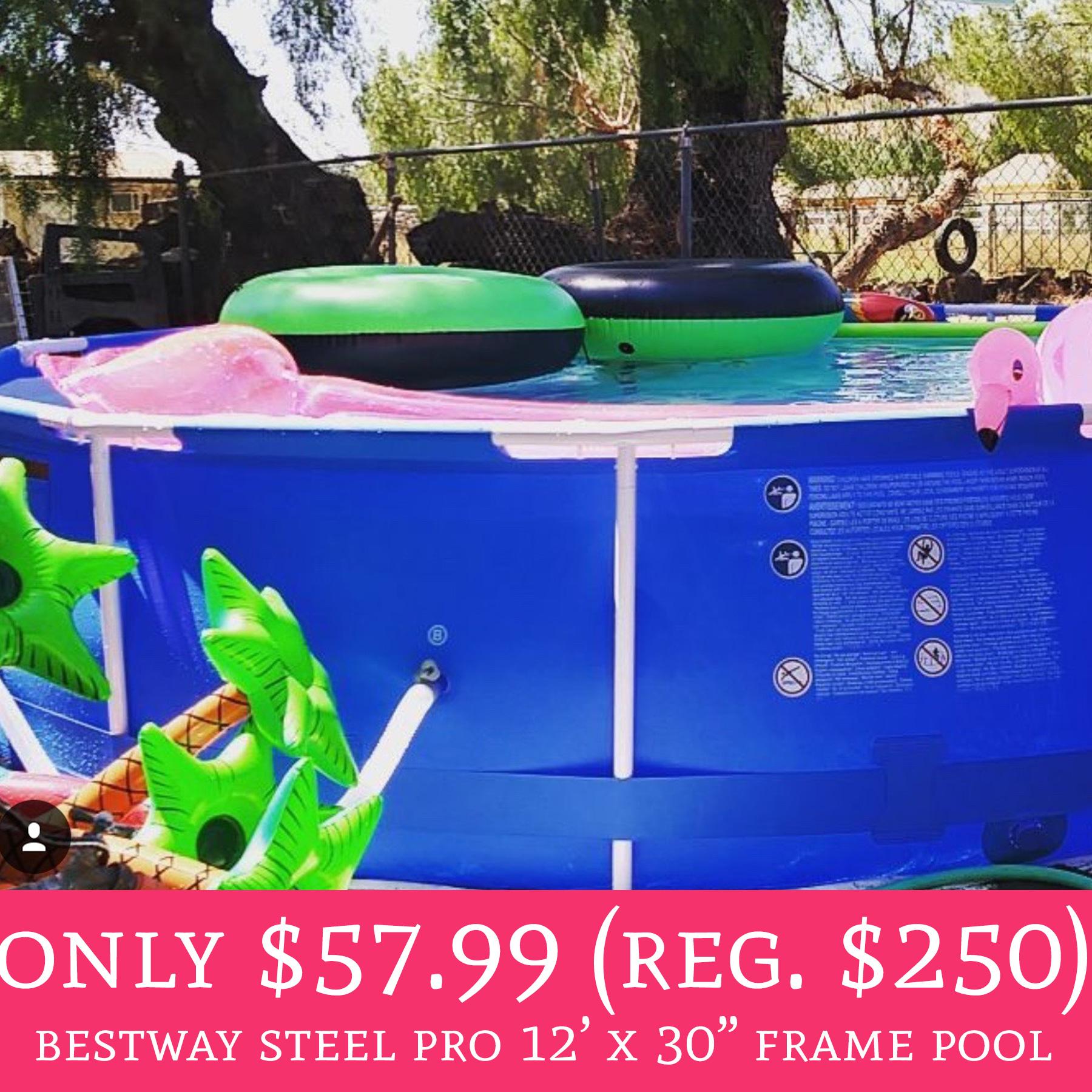 Whoa only regular 250 bestway steel pro 12 x for Bestway pools for sale