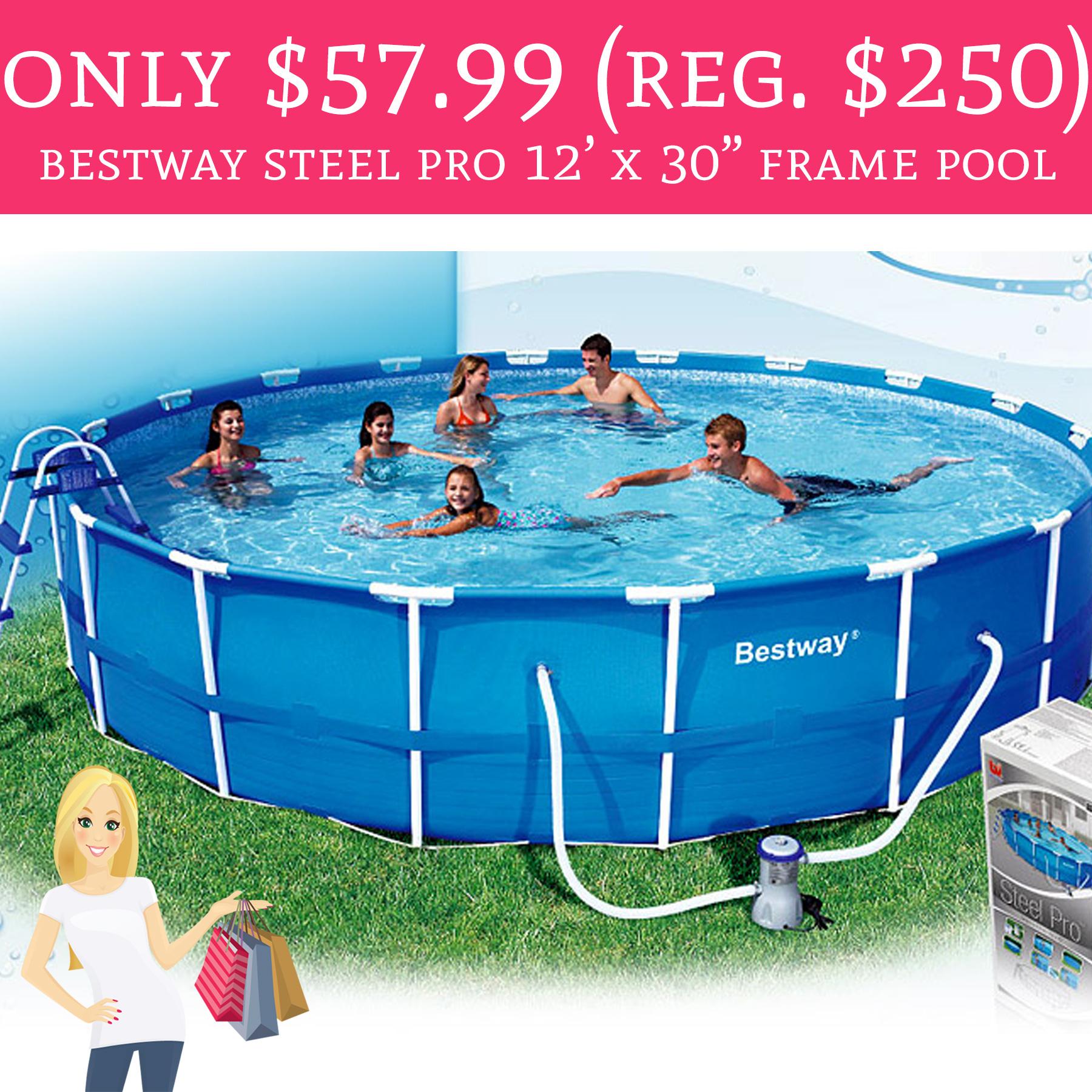 WHOA! Only $57.99 (Regular $250) Bestway Steel Pro 12\' x 30\