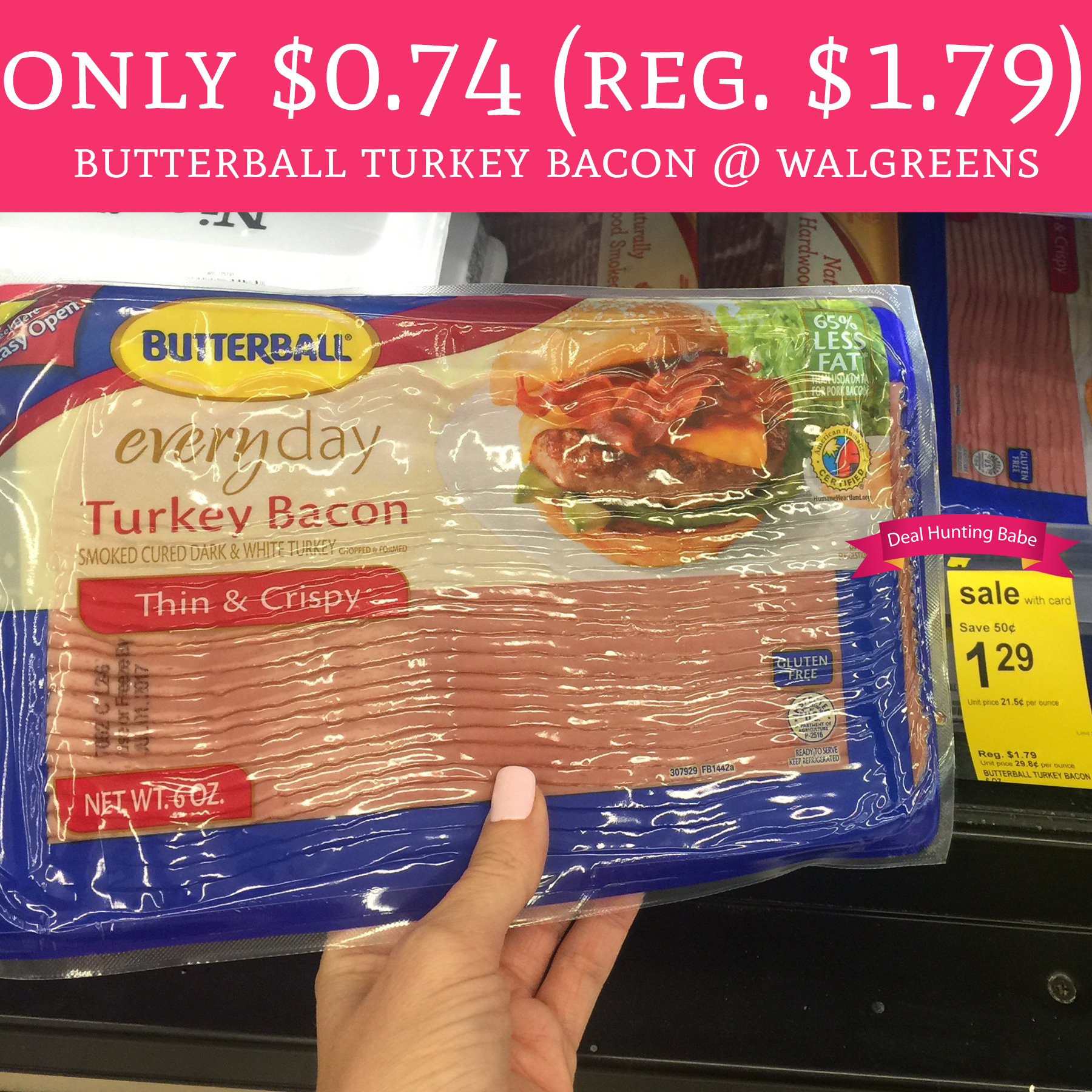 Butterball Turkey Bacon on Lighted Makeup Mirror At Walgreens