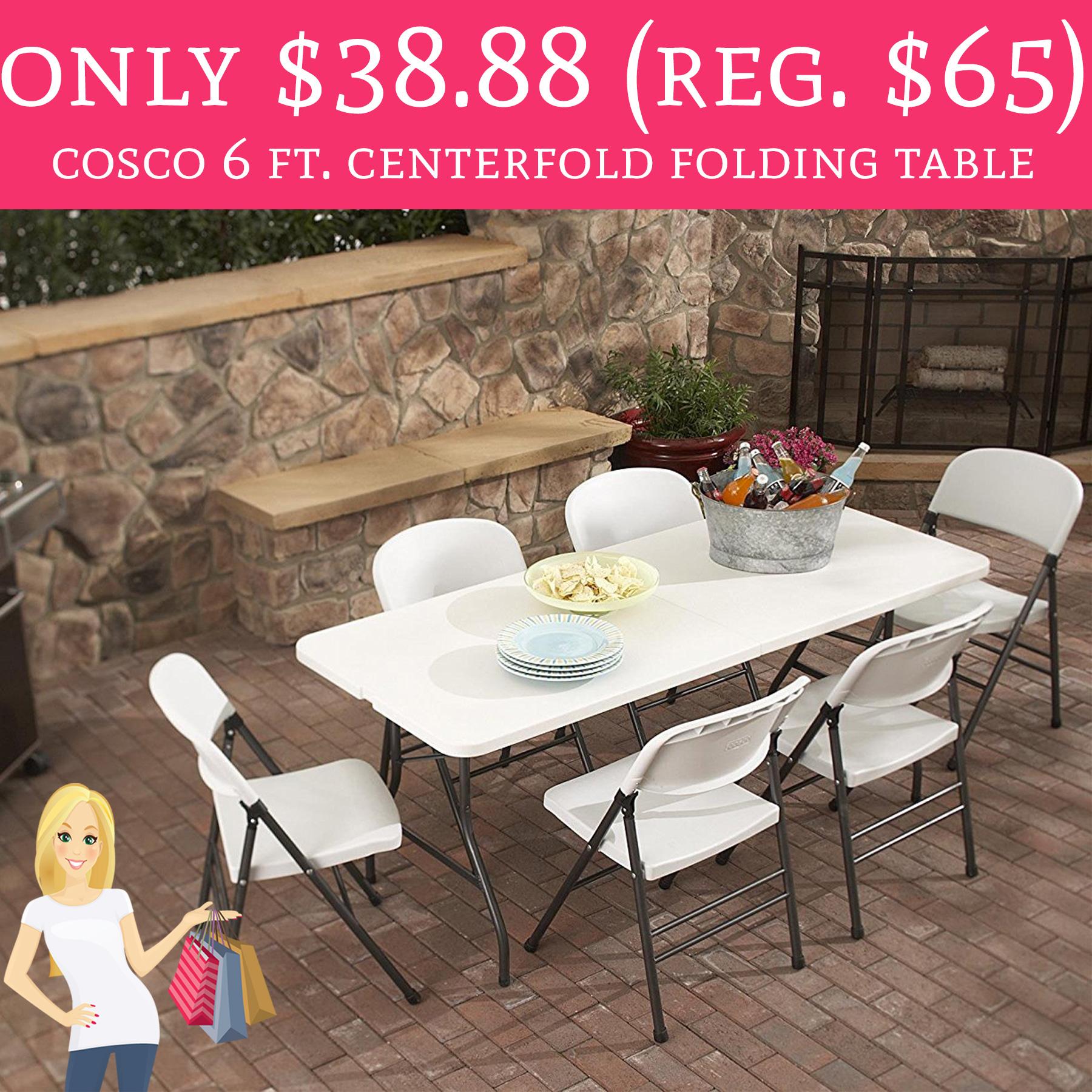 Only 38 88 Regular 65 Cosco 6 Ft Centerfold Folding