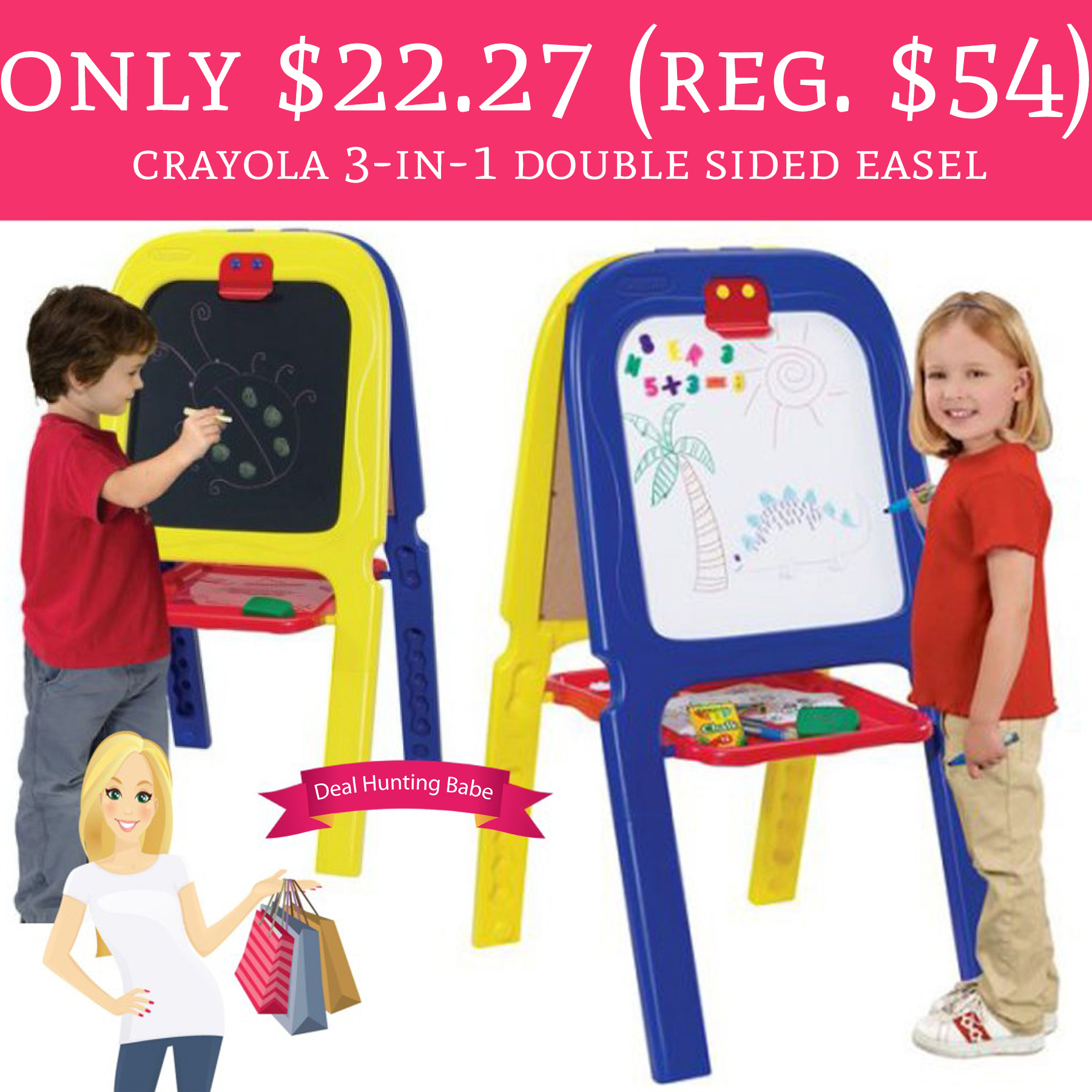 crayola 3 in 1 double easel with magnetic letters wow only 22 27 regular 54 crayola 3 in 1 sided 21223